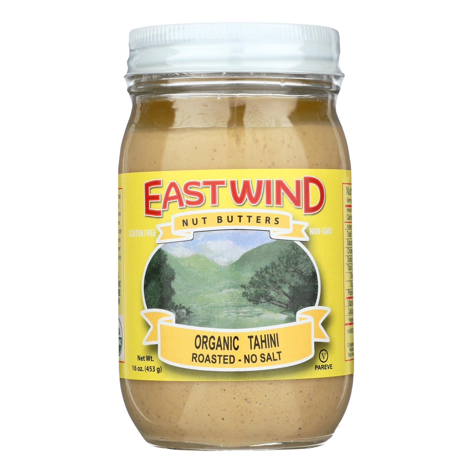 East Wind 100% Organic Roasted No Salt Tahini - 16 oz