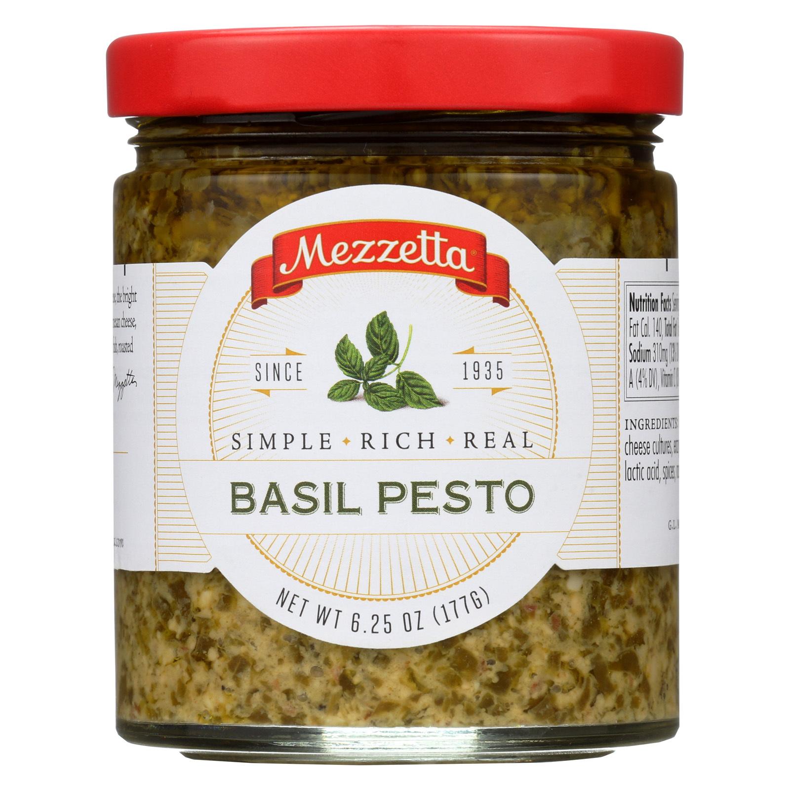 Mezzetta Sauce - Basil Pesto - Case of 6 - 6.25 Fl oz.