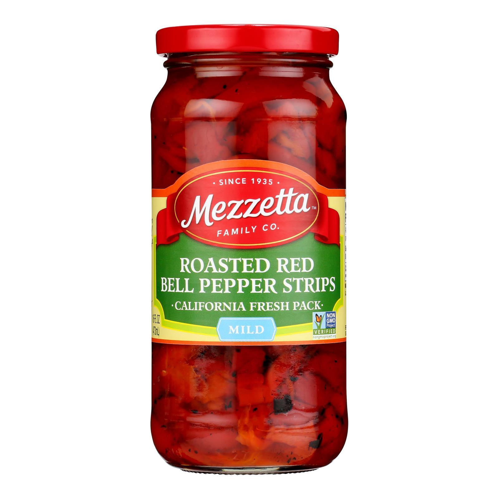 Mezzetta Deli - Sliced Roasted Bell Pepper Strips - Case of 6 - 16 oz.