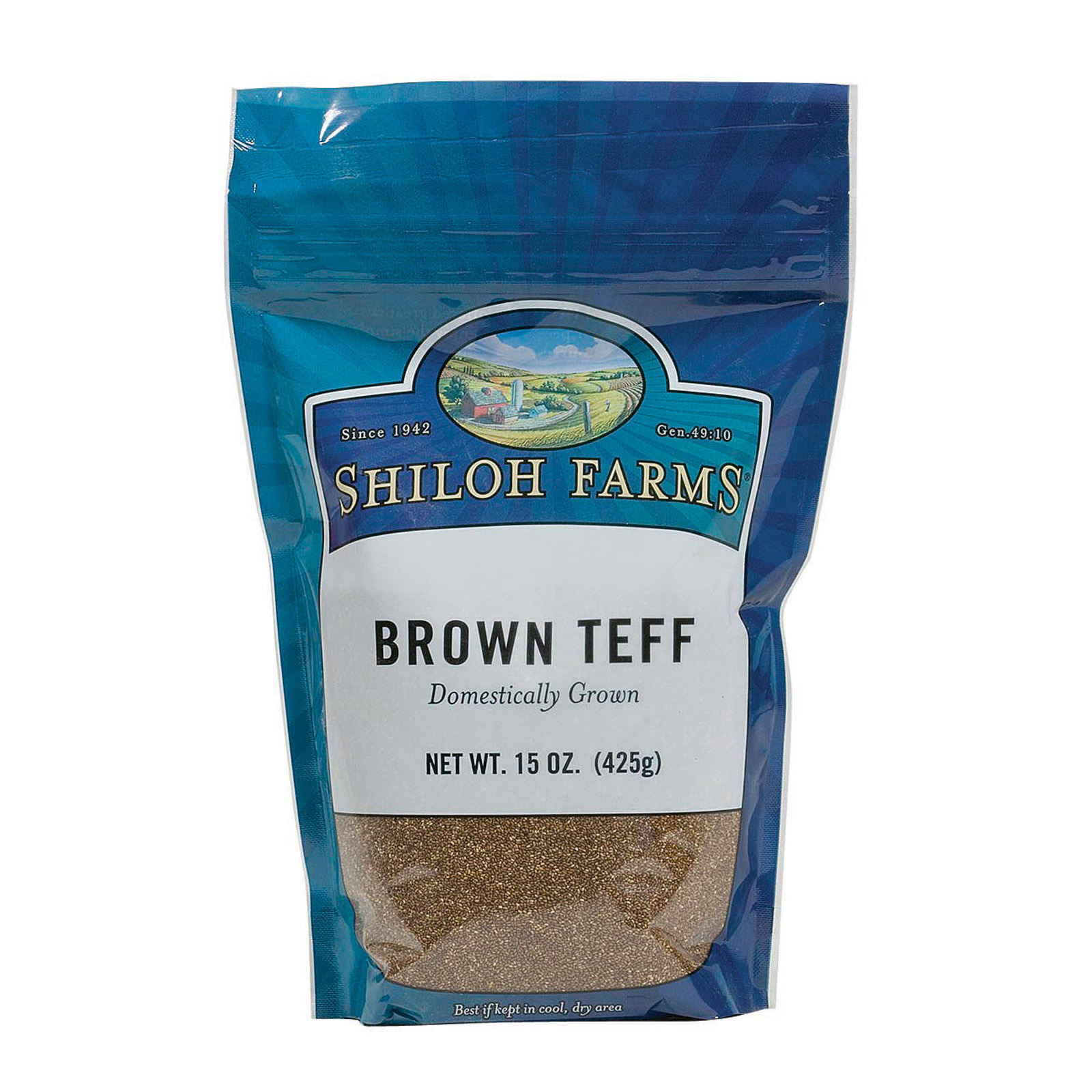 Shiloh Farms Domestically Grown Brown Teff - Case of 6 - 15 oz.