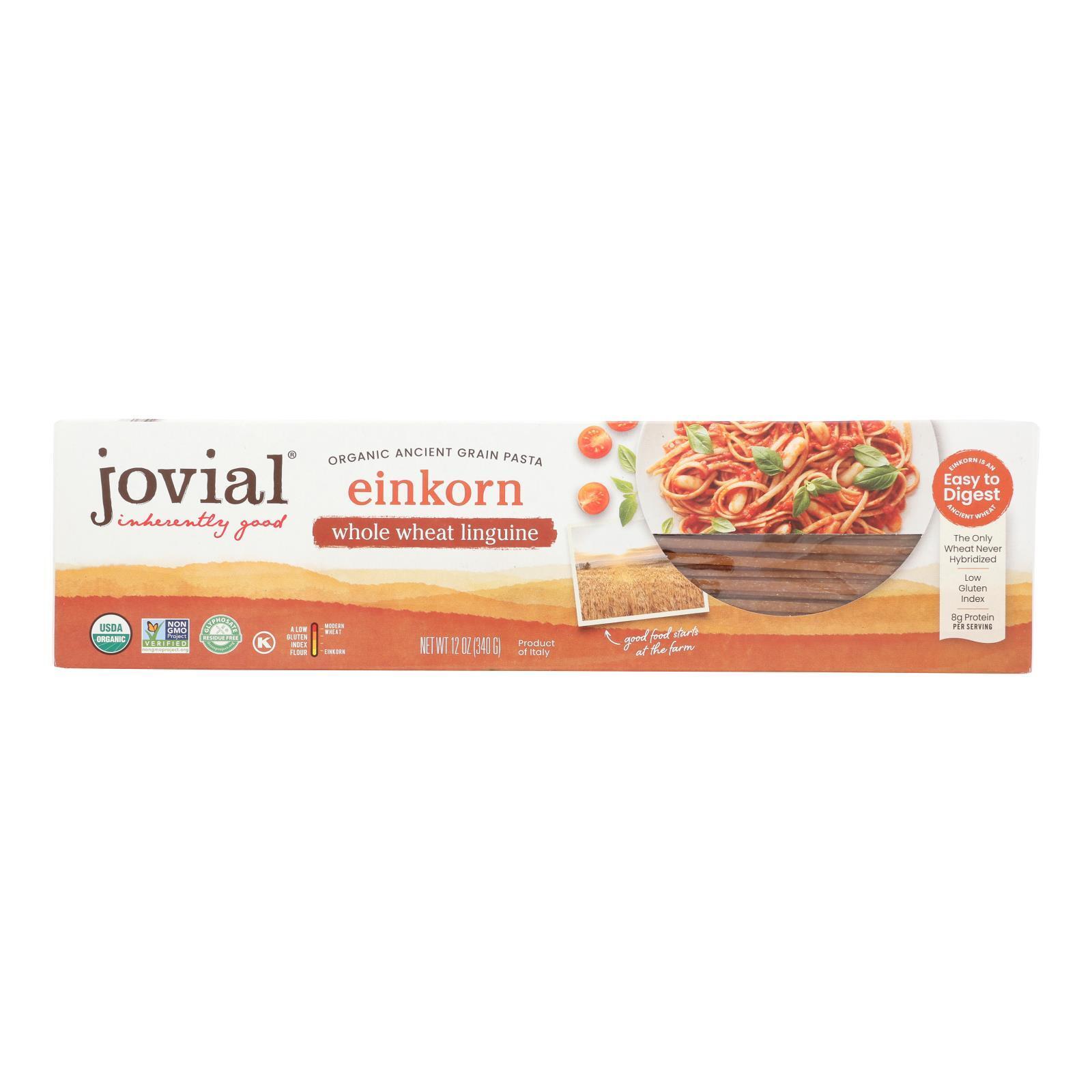 Jovial Whole Wheat Einkorn Pasta - Linguine - Case of 12 - 12 oz.