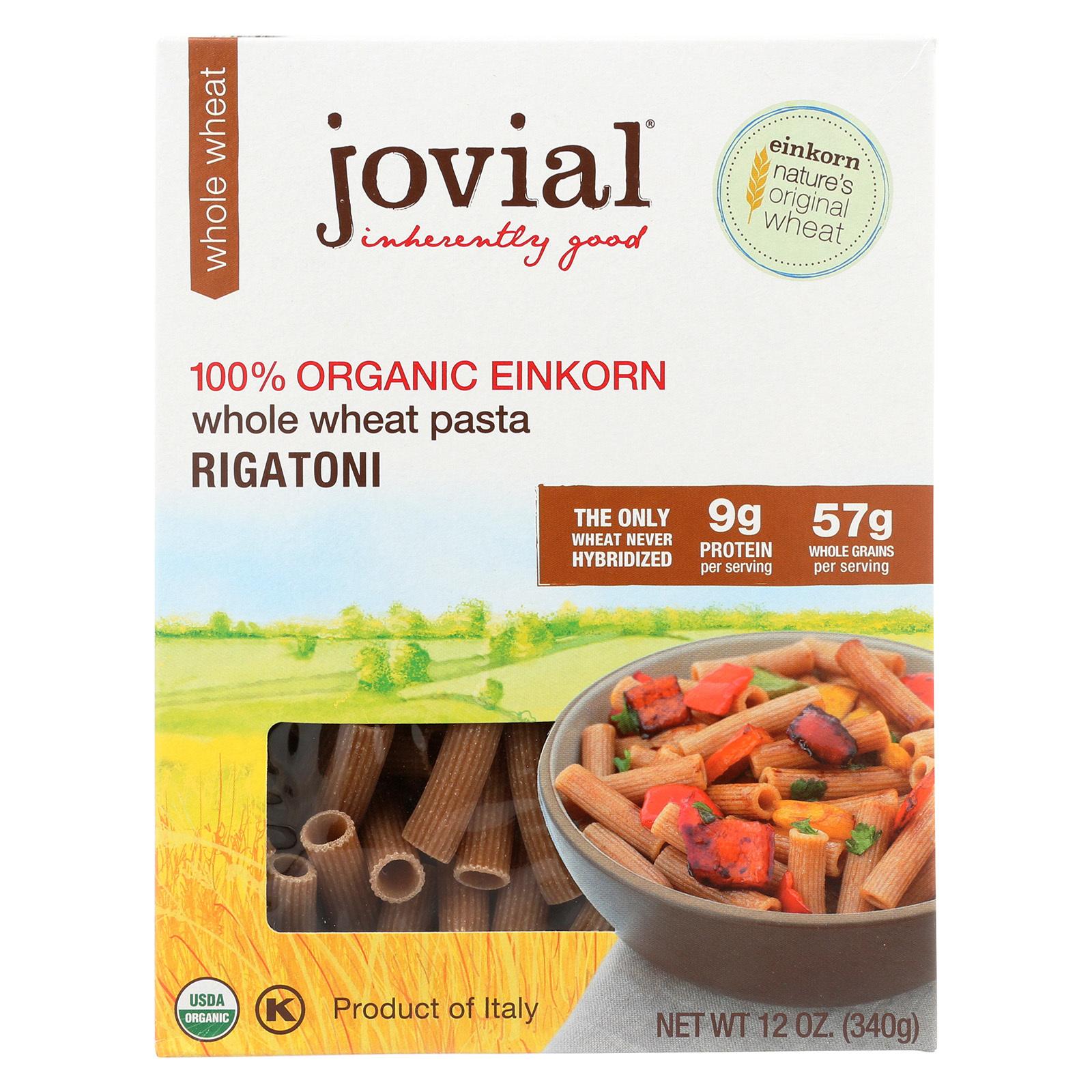 Jovial Whole Wheat Einkorn Pasta - Rigatoni - Case of 12 - 12 oz.