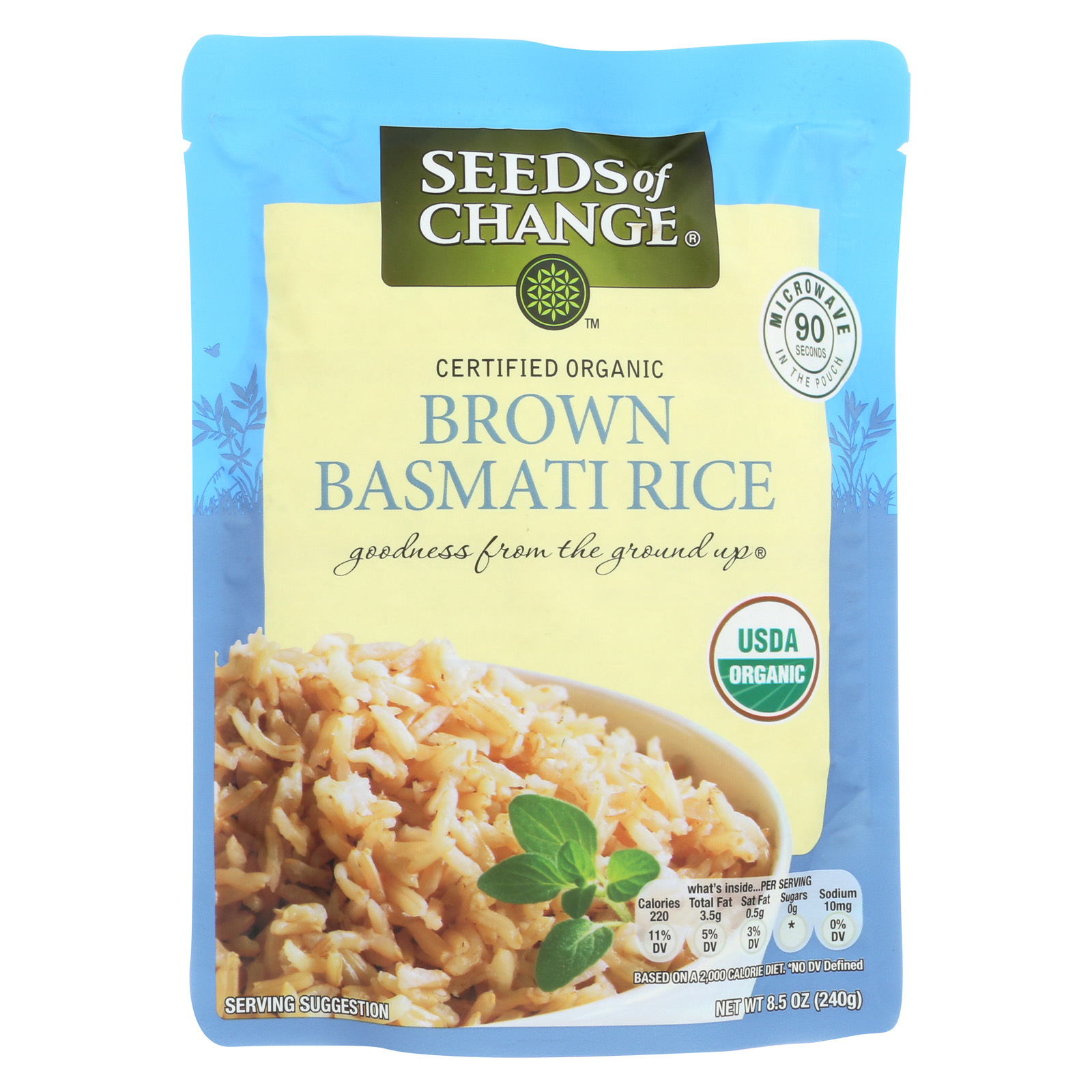 Seeds of Change Organic Rishikesh Brown Basmati Rice - Case of 12 - 8.5 oz.