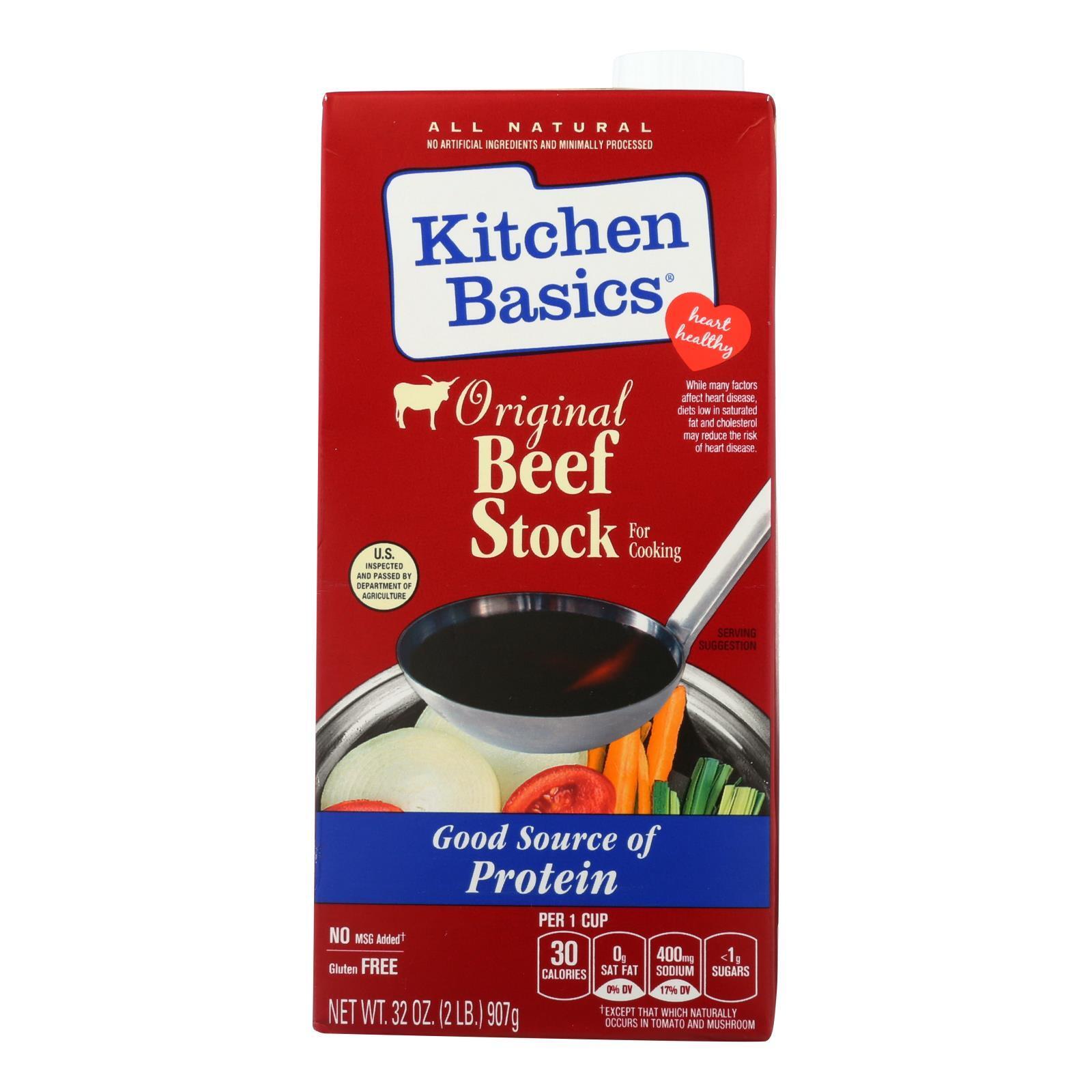 Kitchen Basics Beef Stock - Case of 12 - 32 Fl oz.