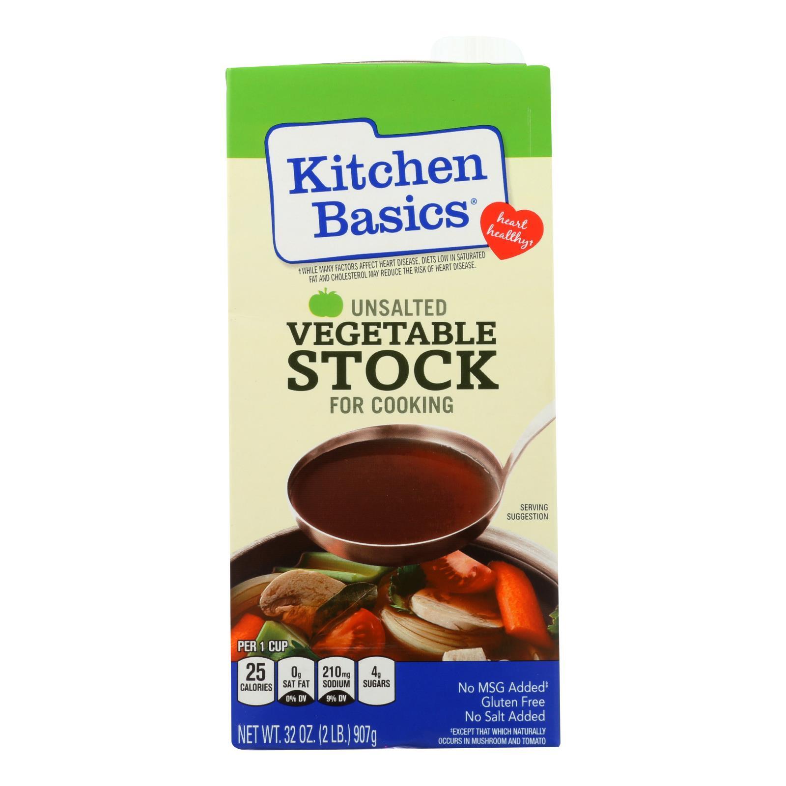 Kitchen Basics Vegetable Stock - Case of 12 - 32 Fl oz.