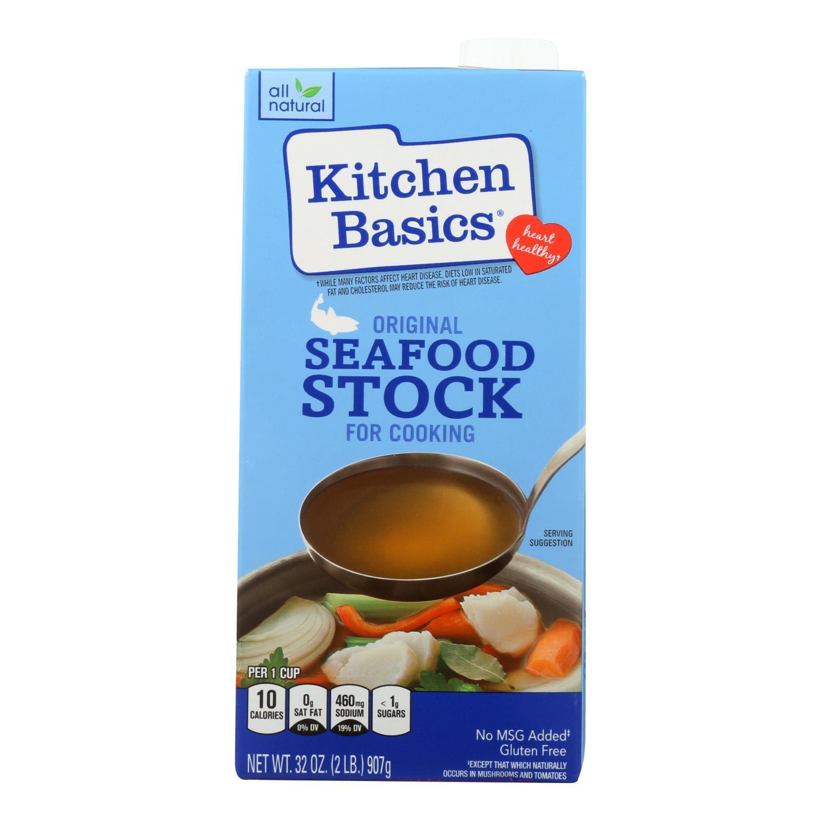 Kitchen Basics Seafood Stock - Case of 12 - 32 Fl oz.