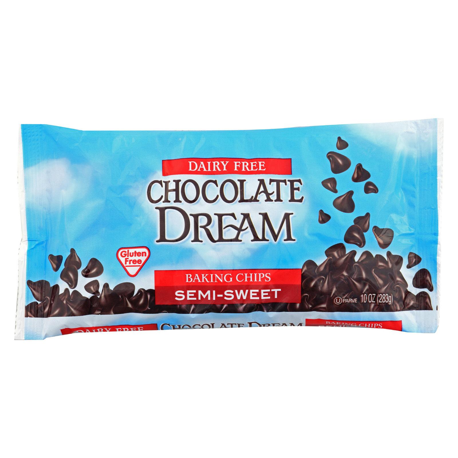 Chocolate Dream Chocolate Chips - Semi Sweet - Case of 12 - 10 oz