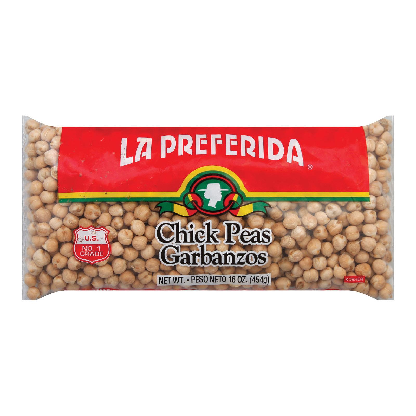 La Preferida Chick Peas - Case of 24 - 16 oz