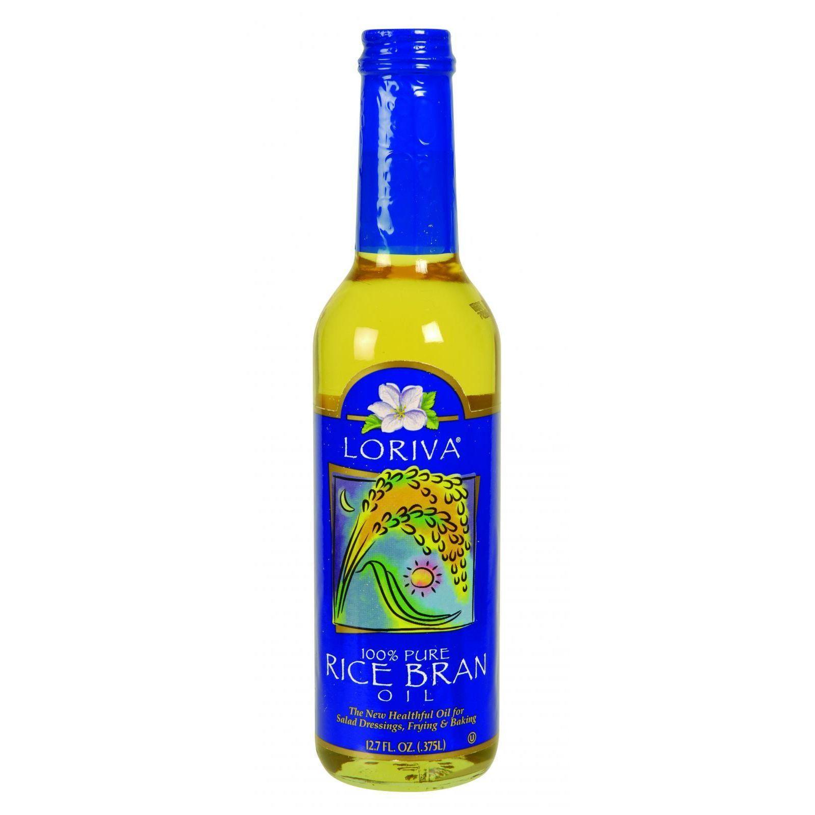 Loriva Rice Bran Oil - 100 Percent Pure - 12.7 oz