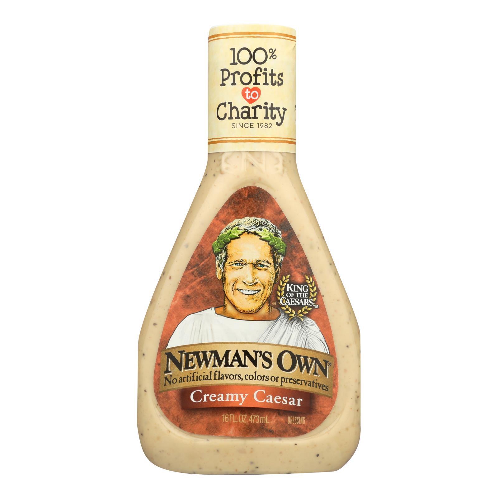 Newman's Own Caesar Dressing - Creamy - Case of 6 - 16 Fl oz.