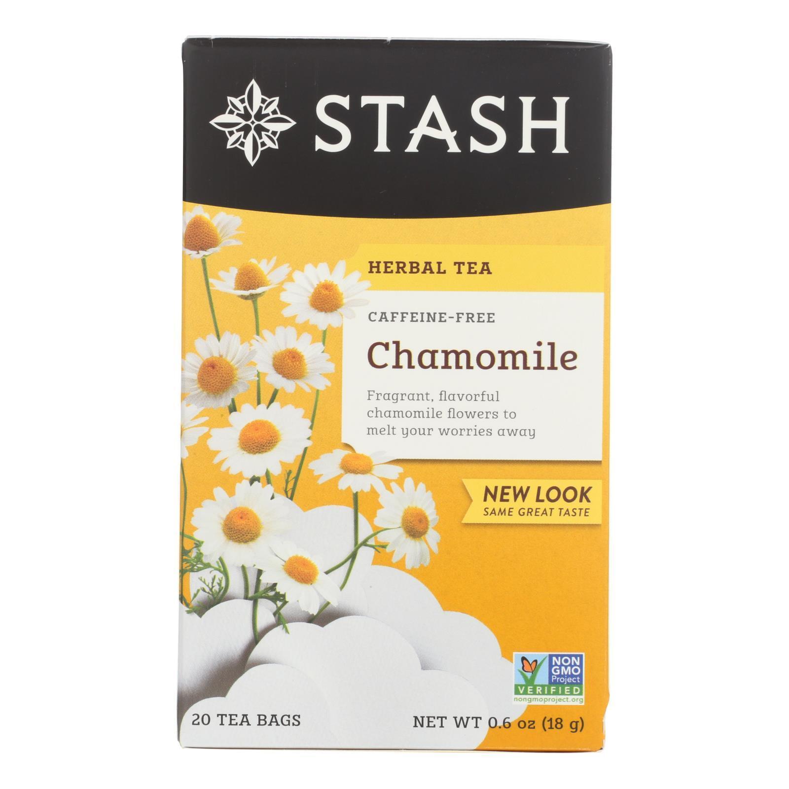 Stash Tea - Herbal - Chamomile - 20 Bags - Case of 6