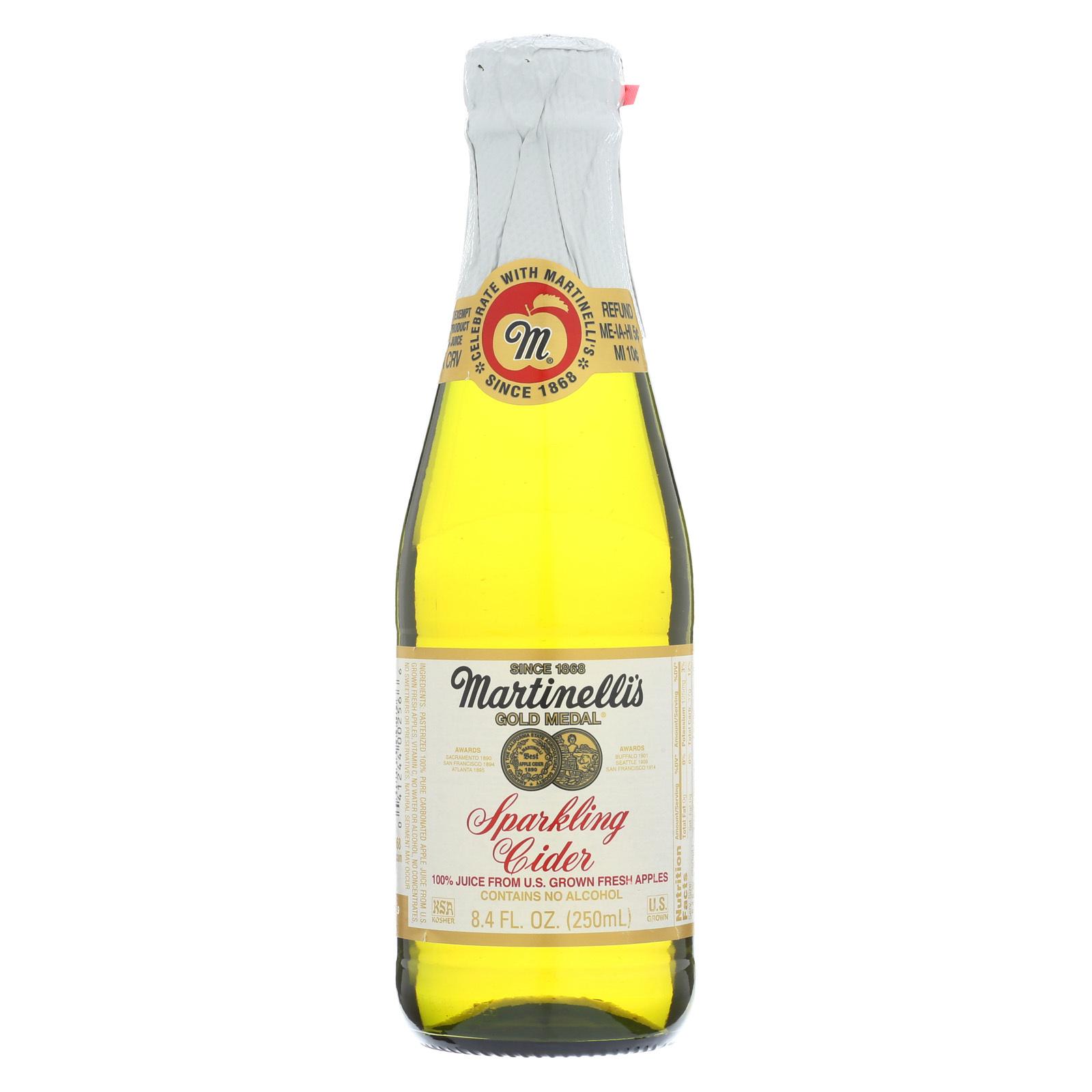 Martinelli's Sparkling Cider - Apple - Case of 12 - 8.4 Fl oz.