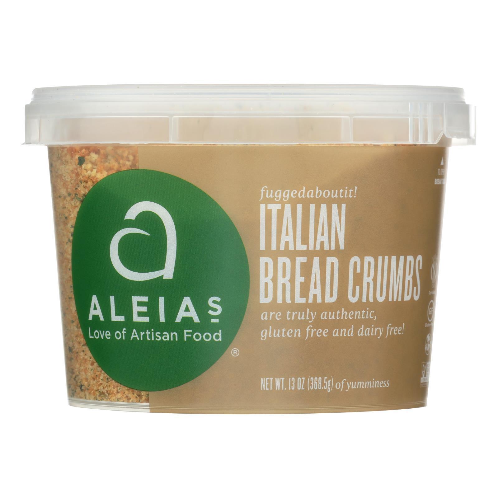 Aleia's Gluten Free Bread Crumbs - Italian - Case of 12 - 13 oz.