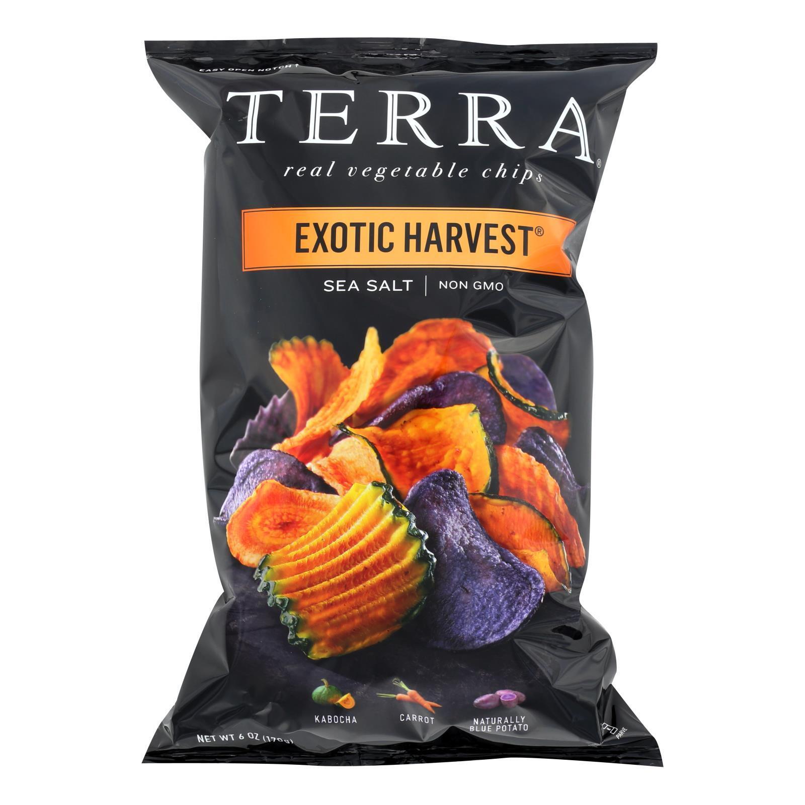 Terra Chips Exotic Vegetable Chips - Exotic Harvest Sea Salt - Case of 12 - 6 oz.