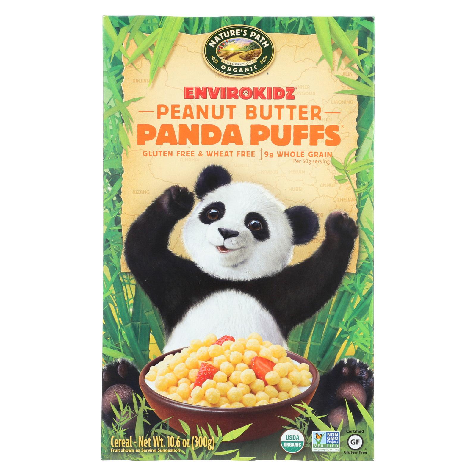 Envirokidz Organic Panda Puffs - Peanut Butter - 10.6 oz