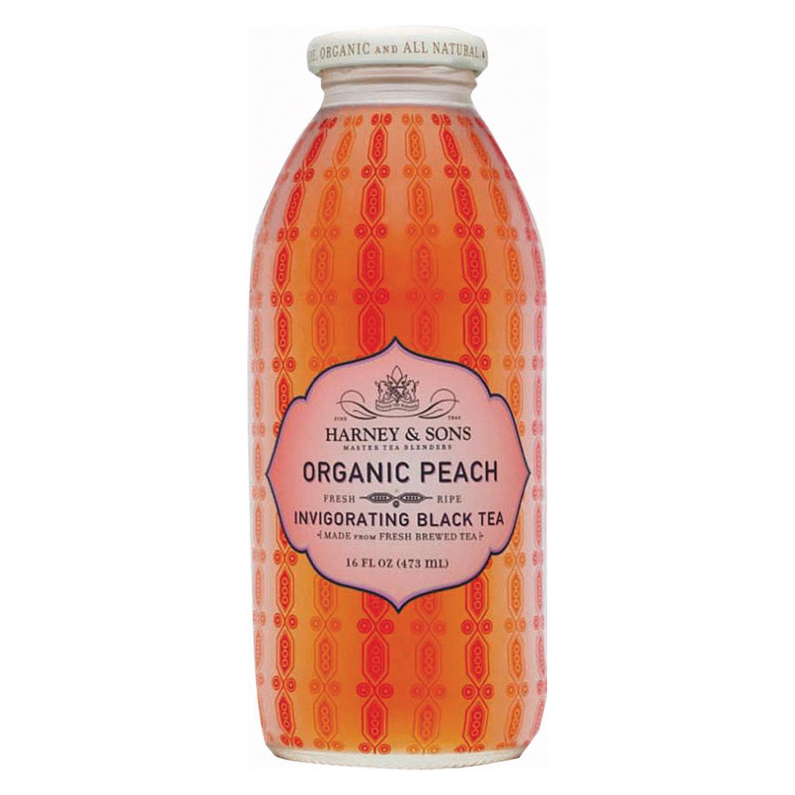 Harney and Sons Harney and Sons Organic Peach Tea - Iced Tea - Case of 12 - 16 Fl oz.