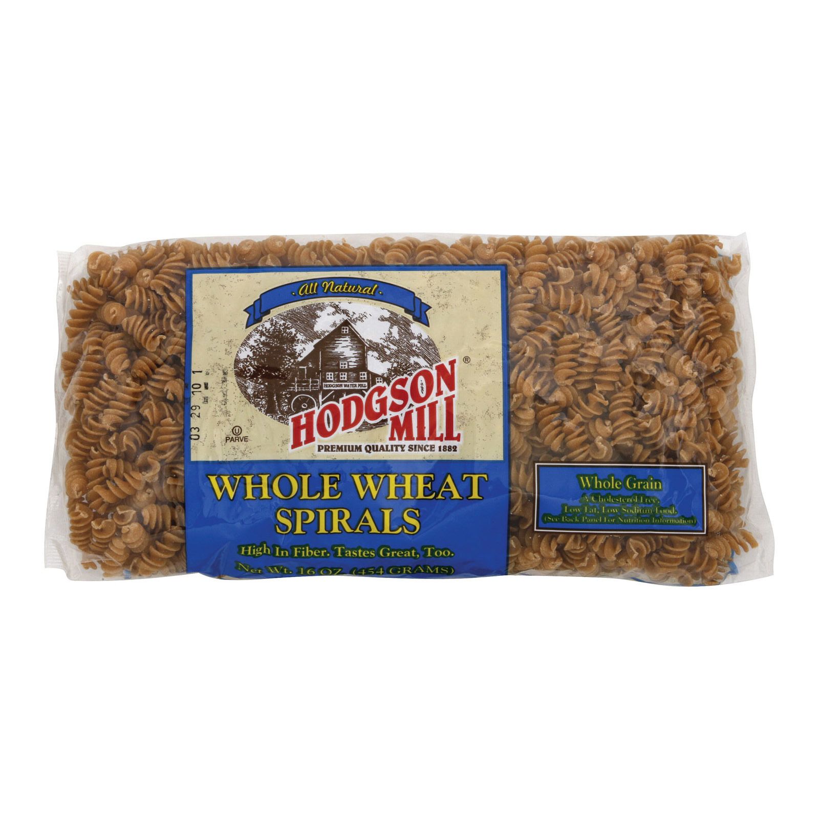 Hodgson Mills Spirals - Whole Wheat - Case of 12 - 16 oz