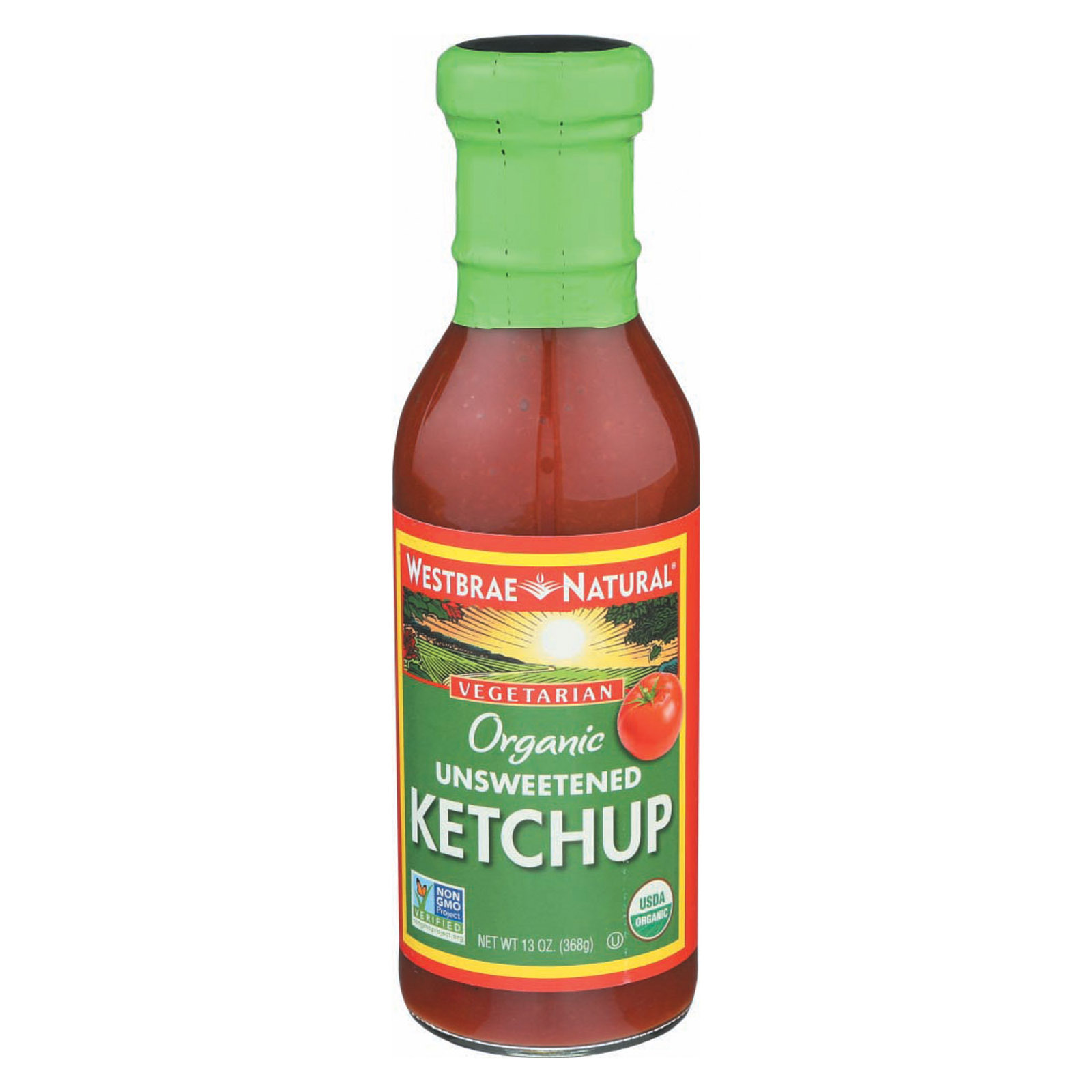 Westbrae Foods Ketchup - Unsweetened - Case of 12 - 13 oz.