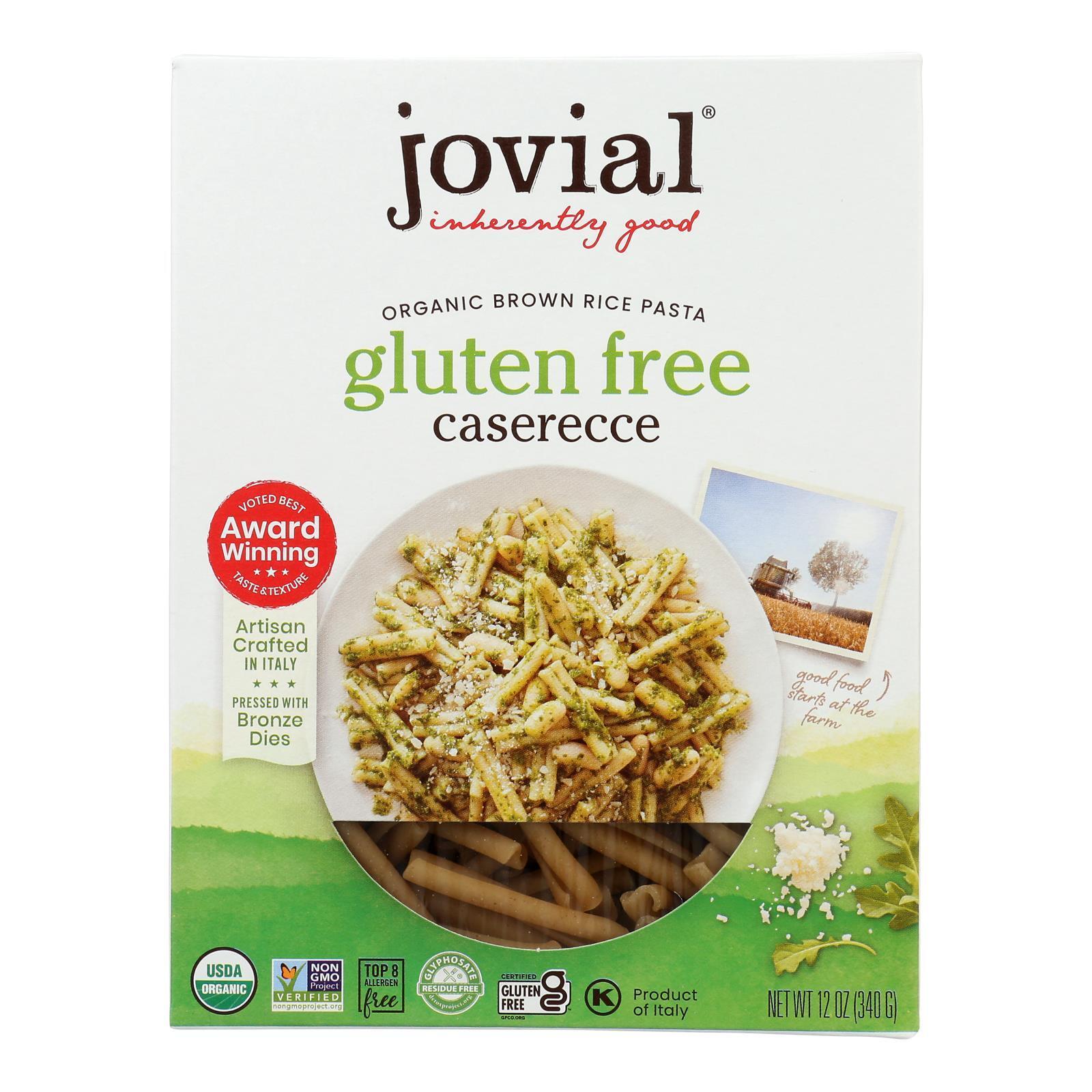 Jovial Gluten Free Brown Rice Pasta - Caserecce - Case of 12 - 12 oz.