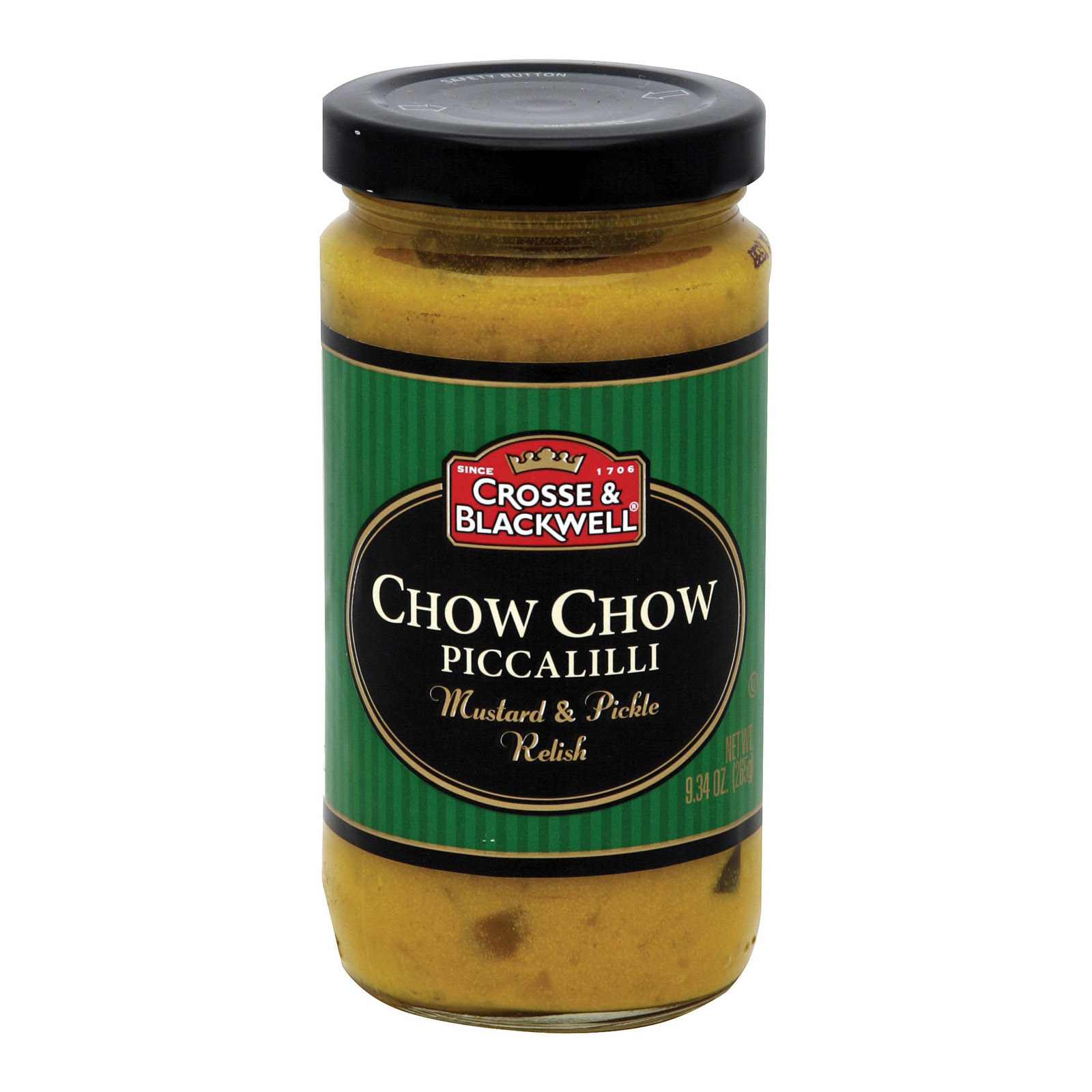 Crosse and Blackwell Relish - Chow Chow - Case of 6 - 9.4 oz