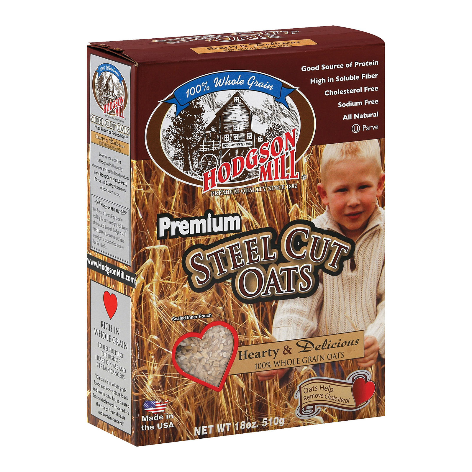 Hodgson Mills Premium Steel Cut Oat - Steel Cut Oats - Case of 6 - 18 oz.