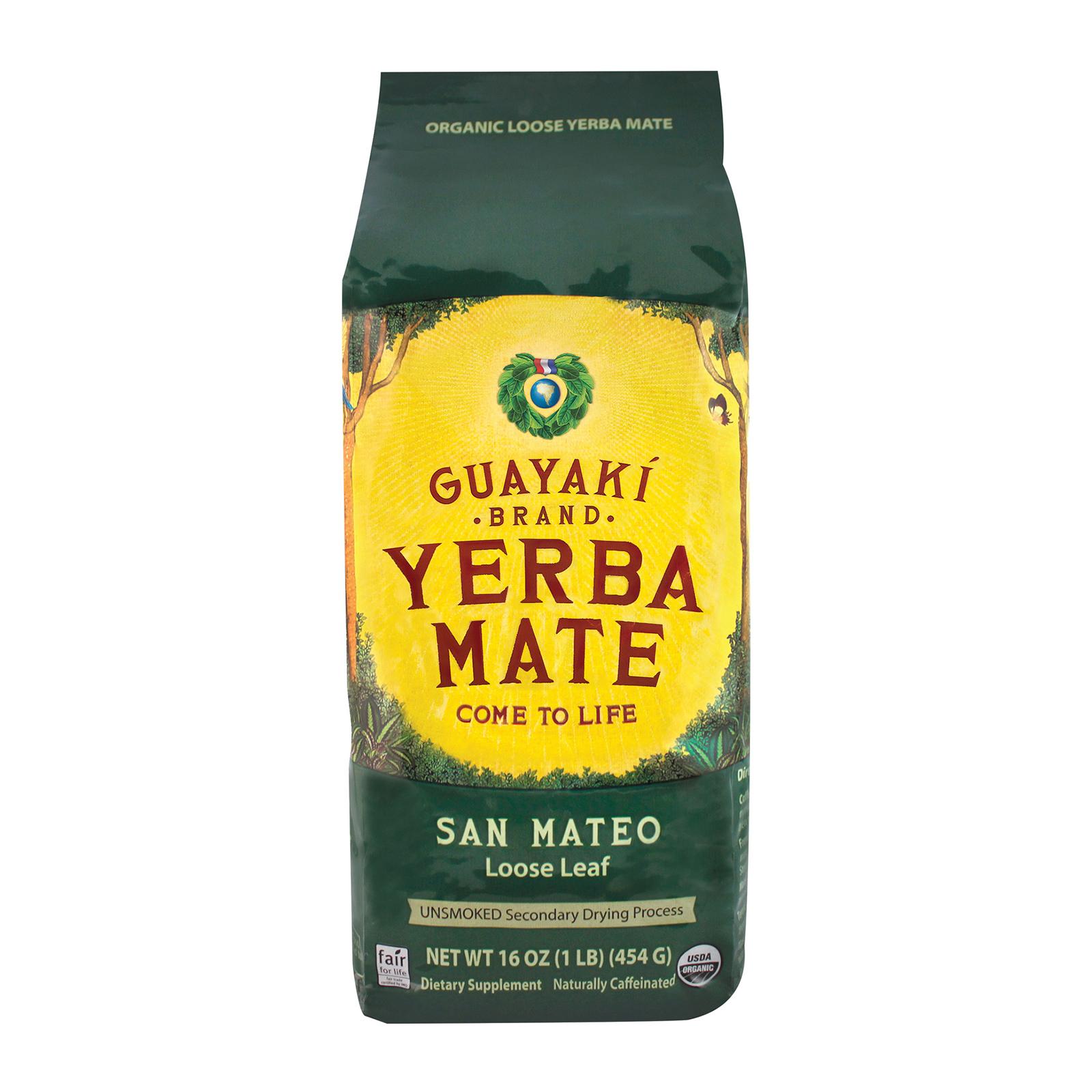 Guayaki Yerba Mate - San Mateo Air Dried - Loose Leaf - Case of 6 - 16 oz.