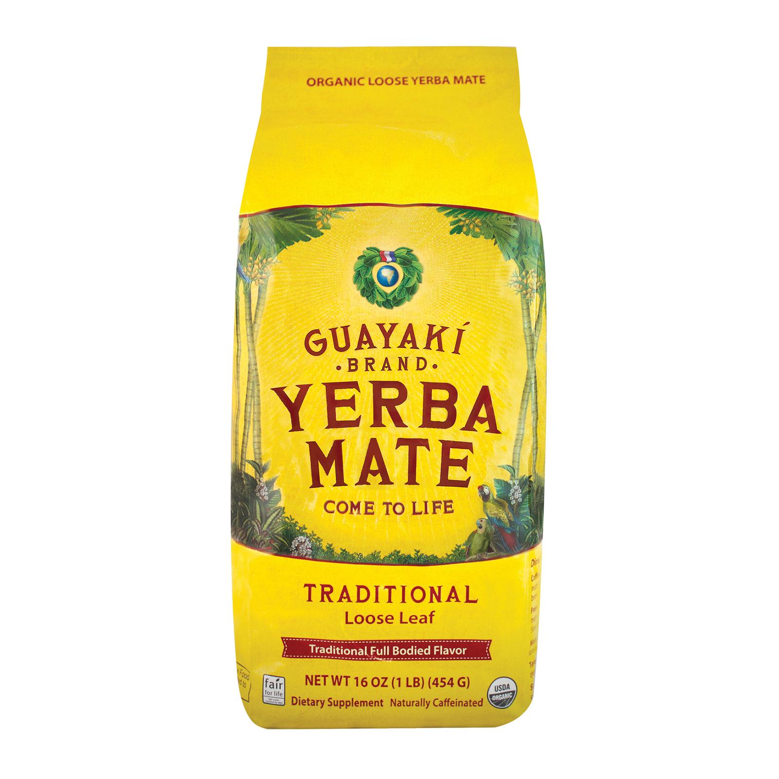 Guayaki Organic Yerba Mate - Traditional - Case of 6 - 16 oz.