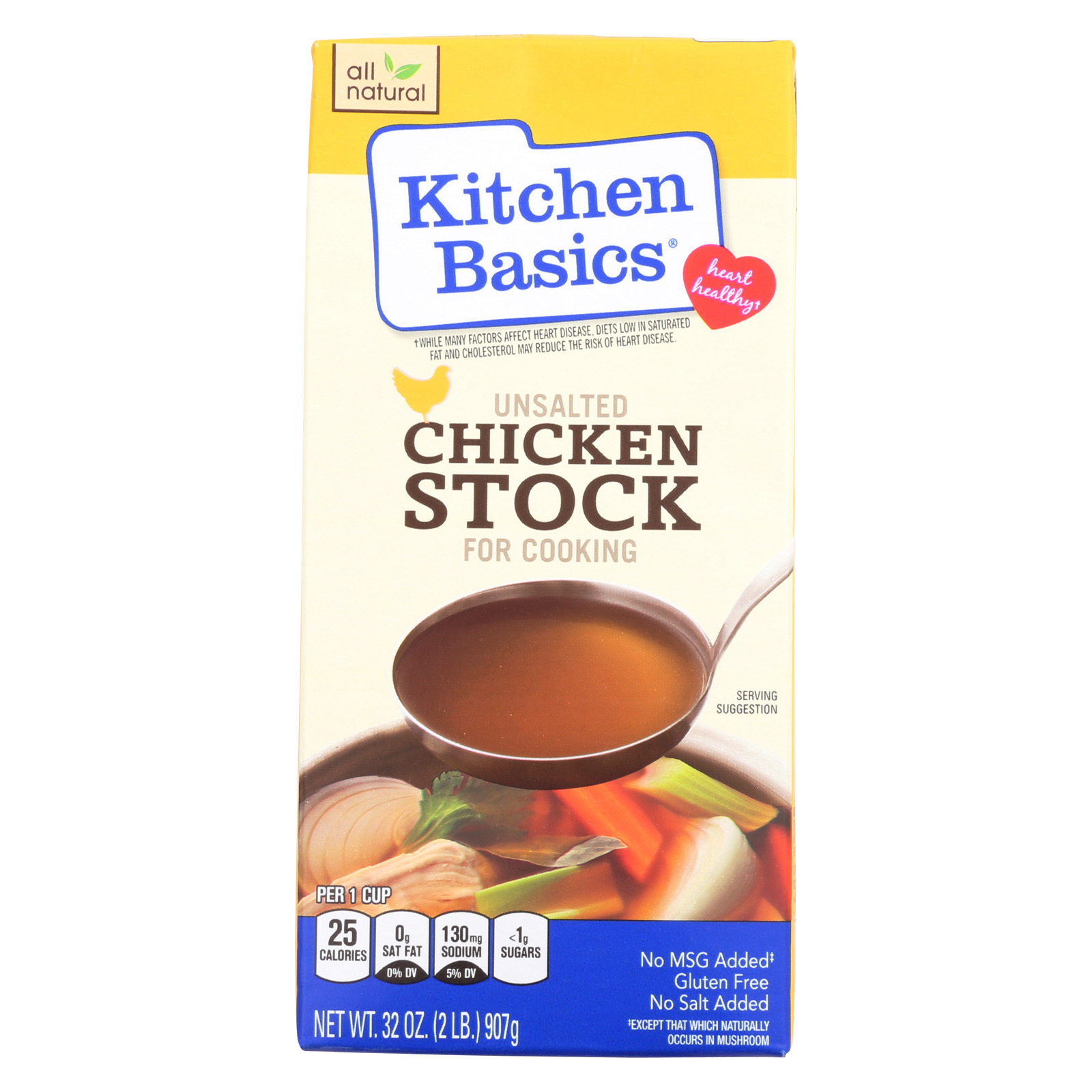 Kitchen Basics Chicken Stock - Case of 12 - 32 Fl oz.