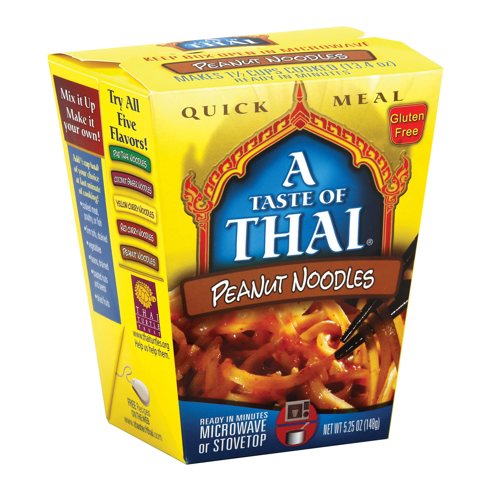 Taste of Thai Peanut Noodles Quick Meal - Case of 6 - 5.25 oz.