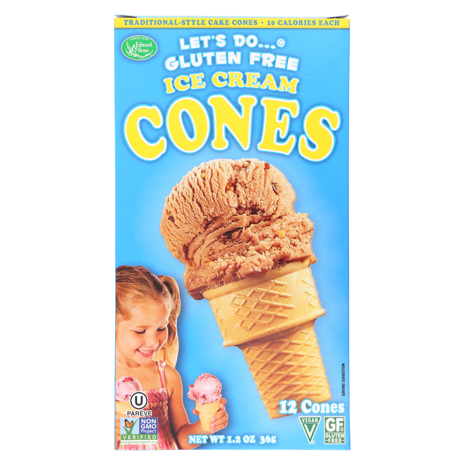 Let's Do Ice Cream Cones - Simple - Case of 12 - 1.2 oz.