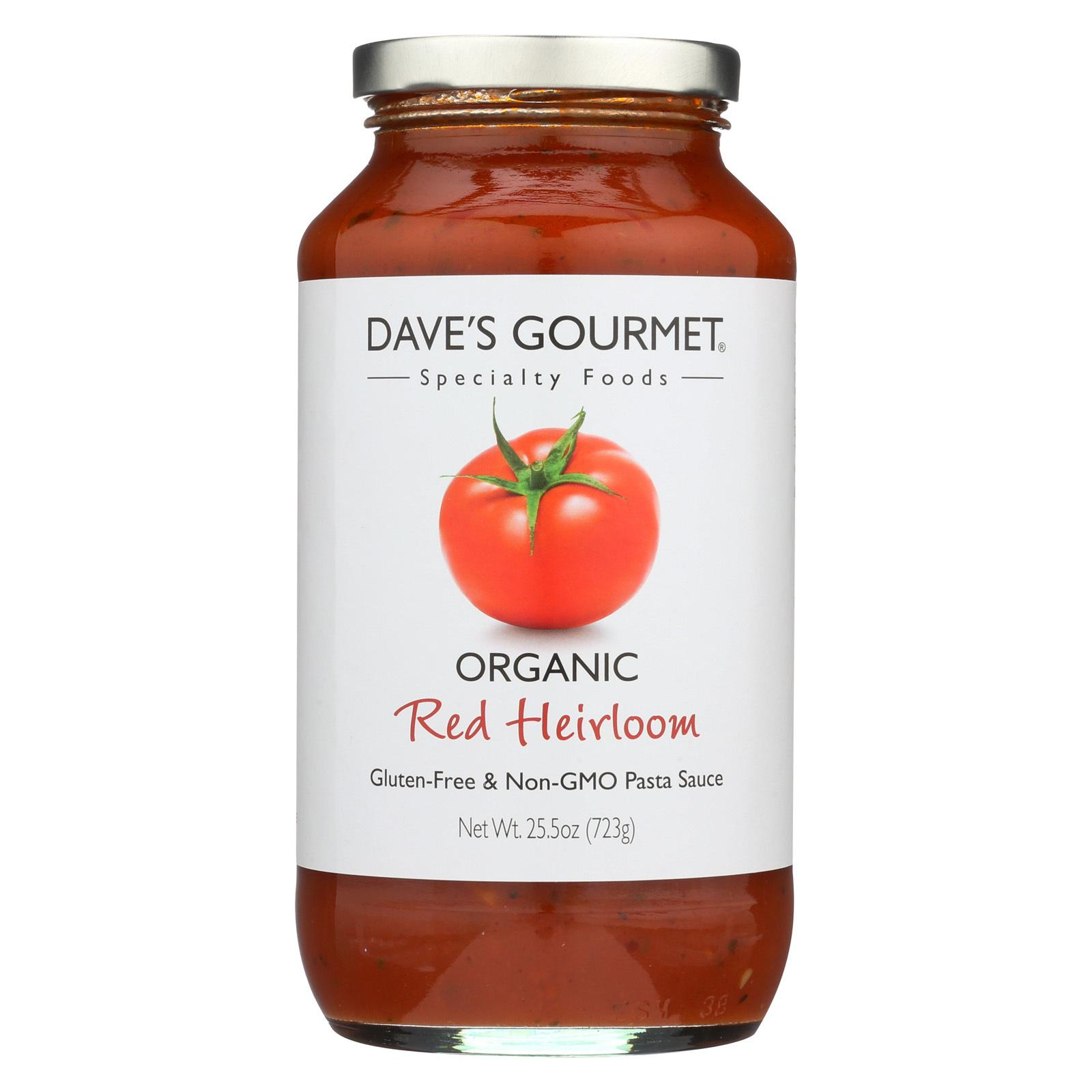 Dave's Gourmet Organic Red Heirloom Pasta Sauce - Case of 6 - 25.5 FL oz.
