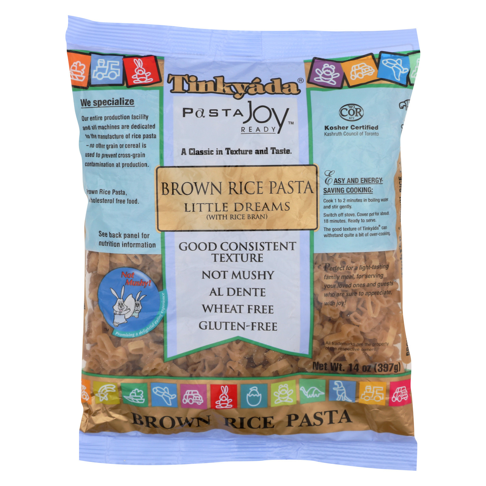 Tinkyada Brown Rice Pasta - Little Dreams - Case of 12 - 14 oz.