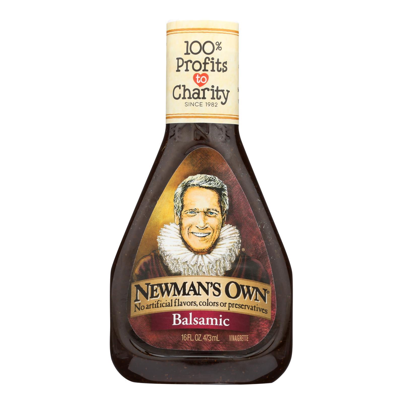 Newman's Own Balsamic Salad Dressing - Vinegar - Case of 6 - 16 Fl oz.