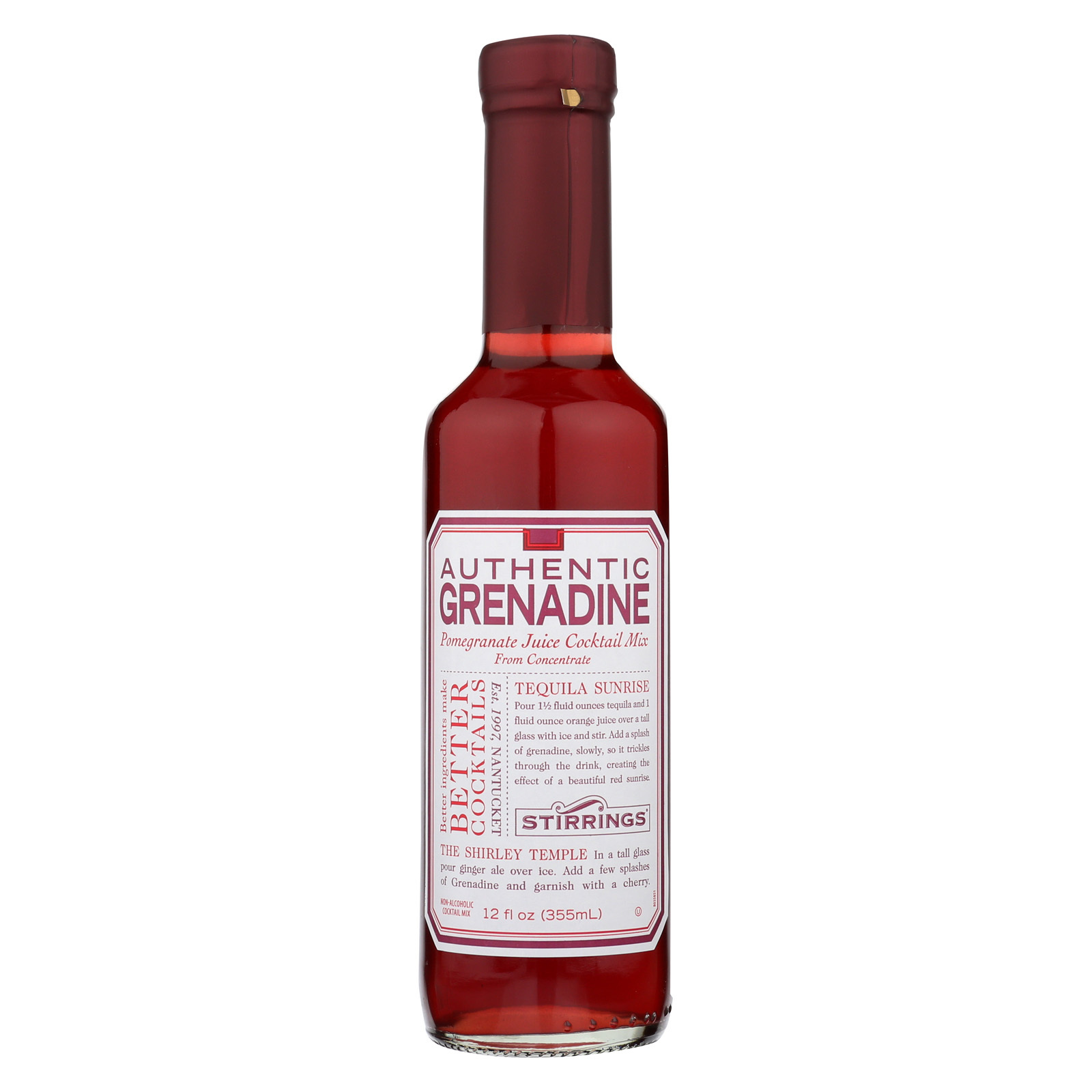 Stirrings Bar Ingredients - Authentic Grenadine - Case of 6 - 12 Fl oz.