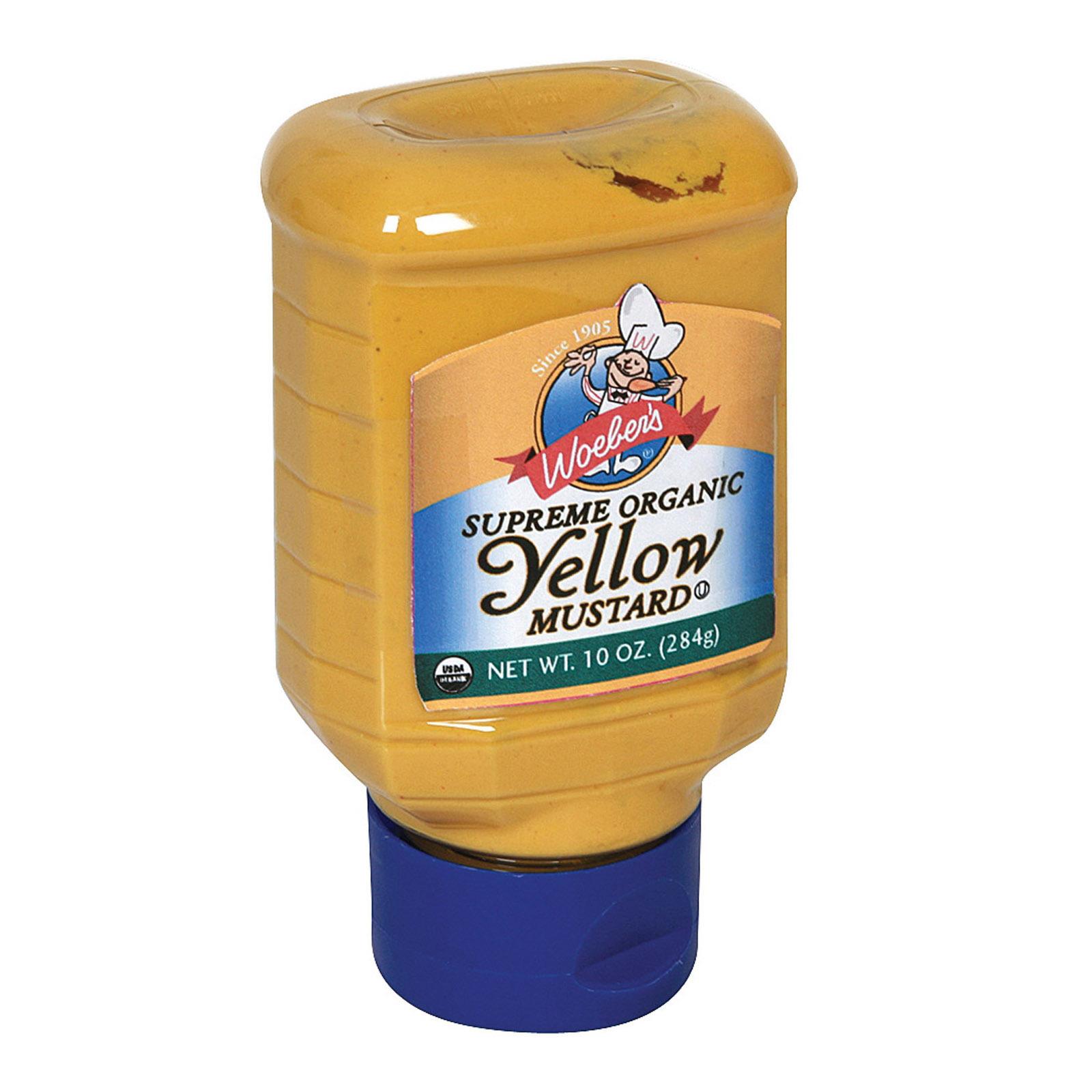 Woeber's Organic Mustard - Yellow - Case of 6 - 10 oz