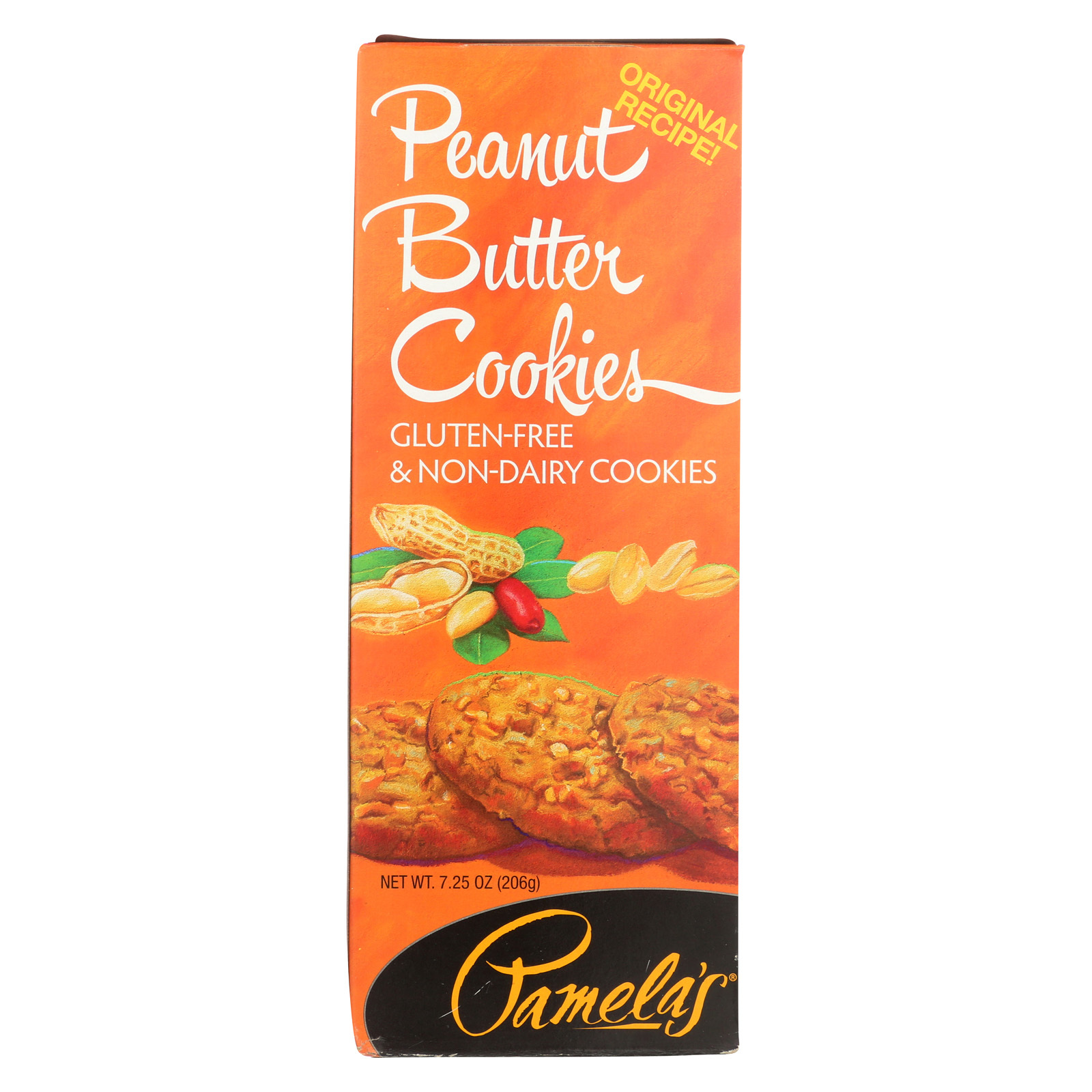 Pamela's Products Wheat Free Gluten Free Butter Cookies - Peanut - Case of 6 - 7.25 oz.