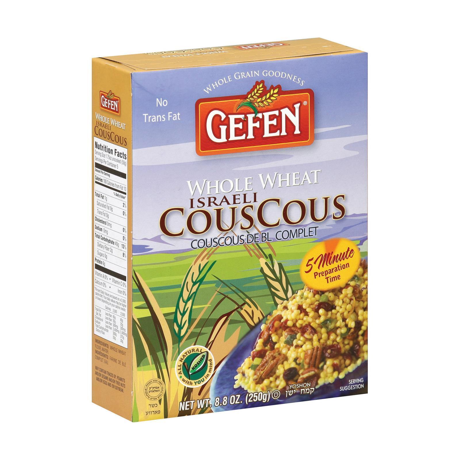 Gefen Couscous - Whole Wheat - Israeli - Case of 12 - 8.8 oz