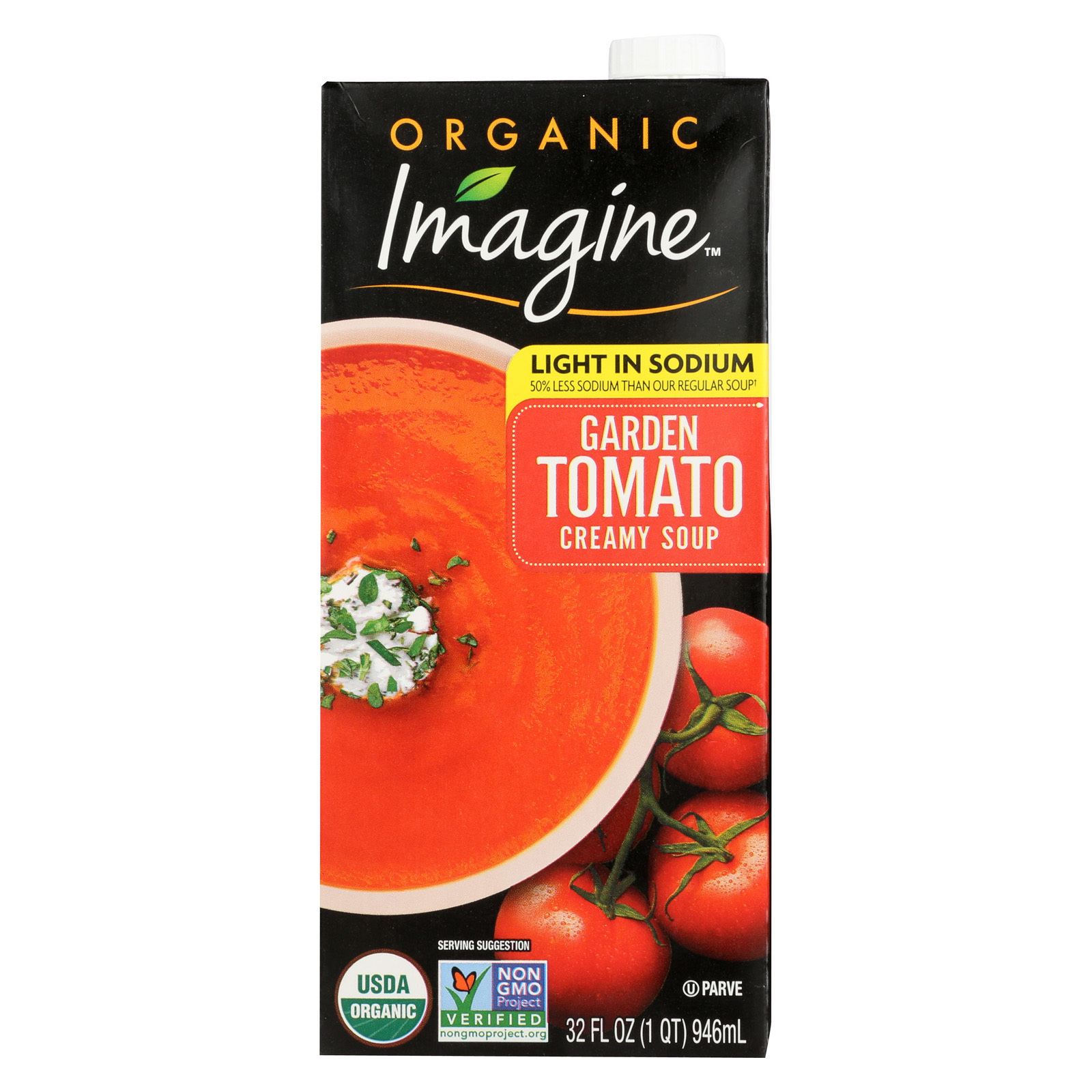 Imagine Foods Garden Tomato Soup - Low Sodium - Case of 12 - 32 Fl oz.