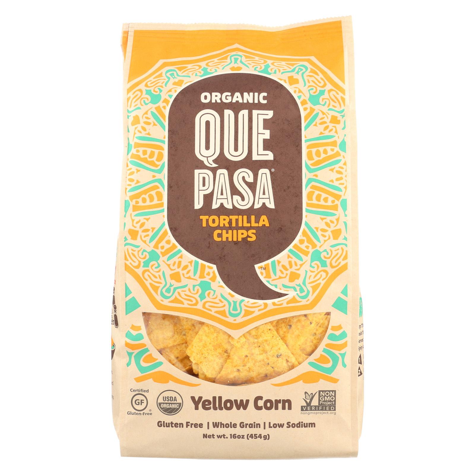 Que Pasa Tortilla Chip - Yellow Corn - Case of 12 - 16 oz.