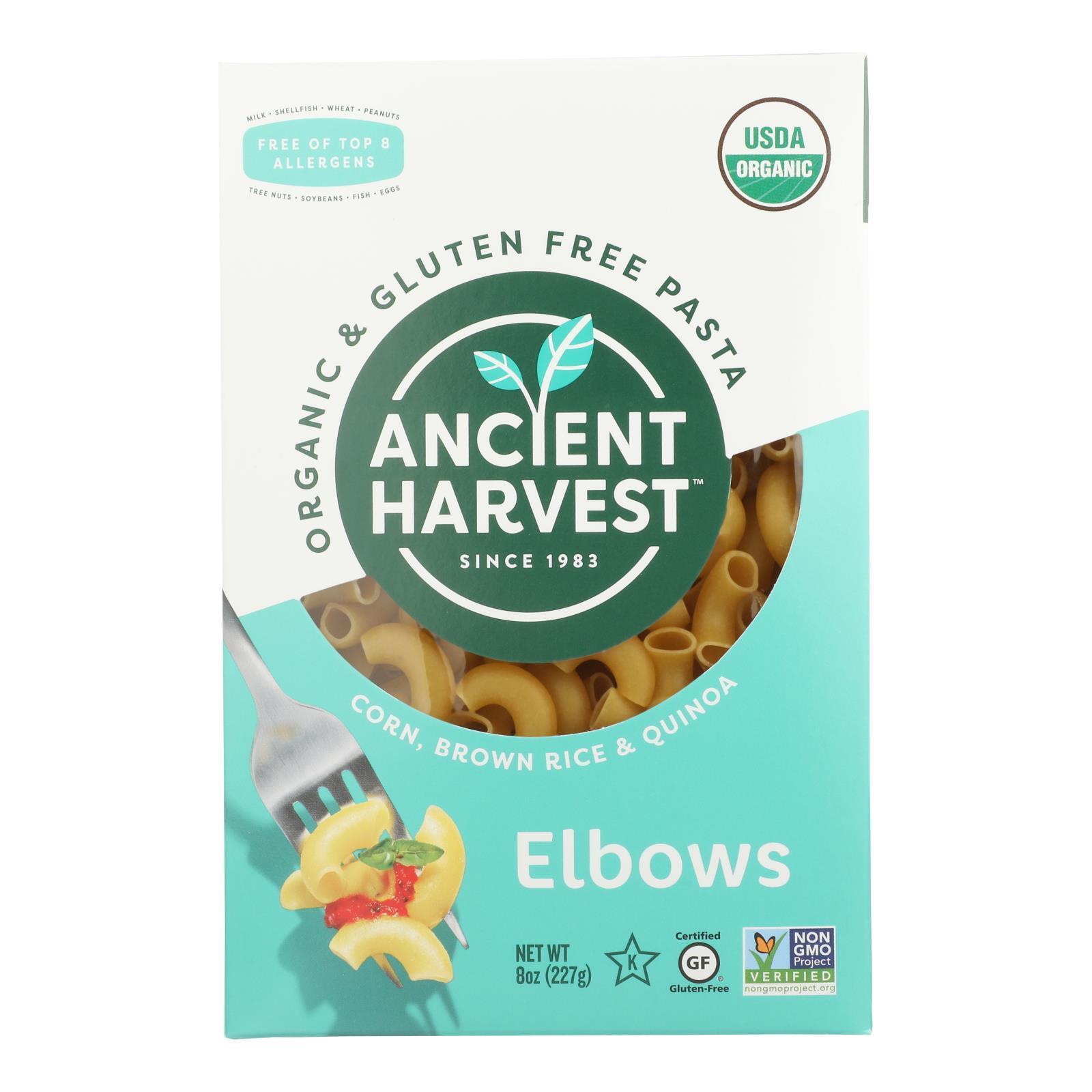 Ancient Harvest Organic Quinoa Supergrain Pasta - Elbows - Case of 12 - 8 oz