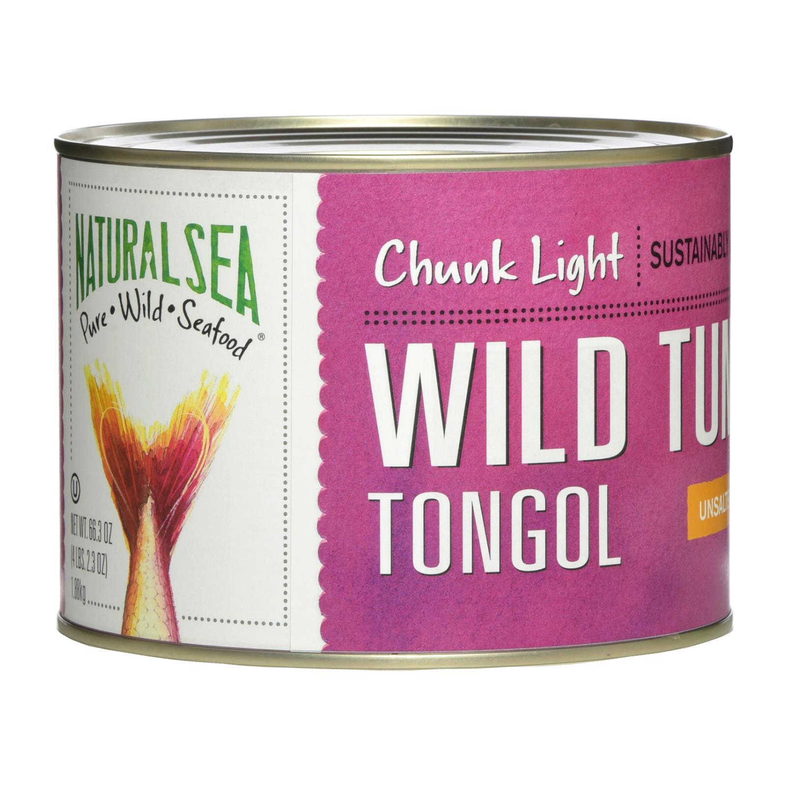 Natural Sea Tuna - Tongol - Chunk Light - No Salt Added - 66.5 oz - case of 6