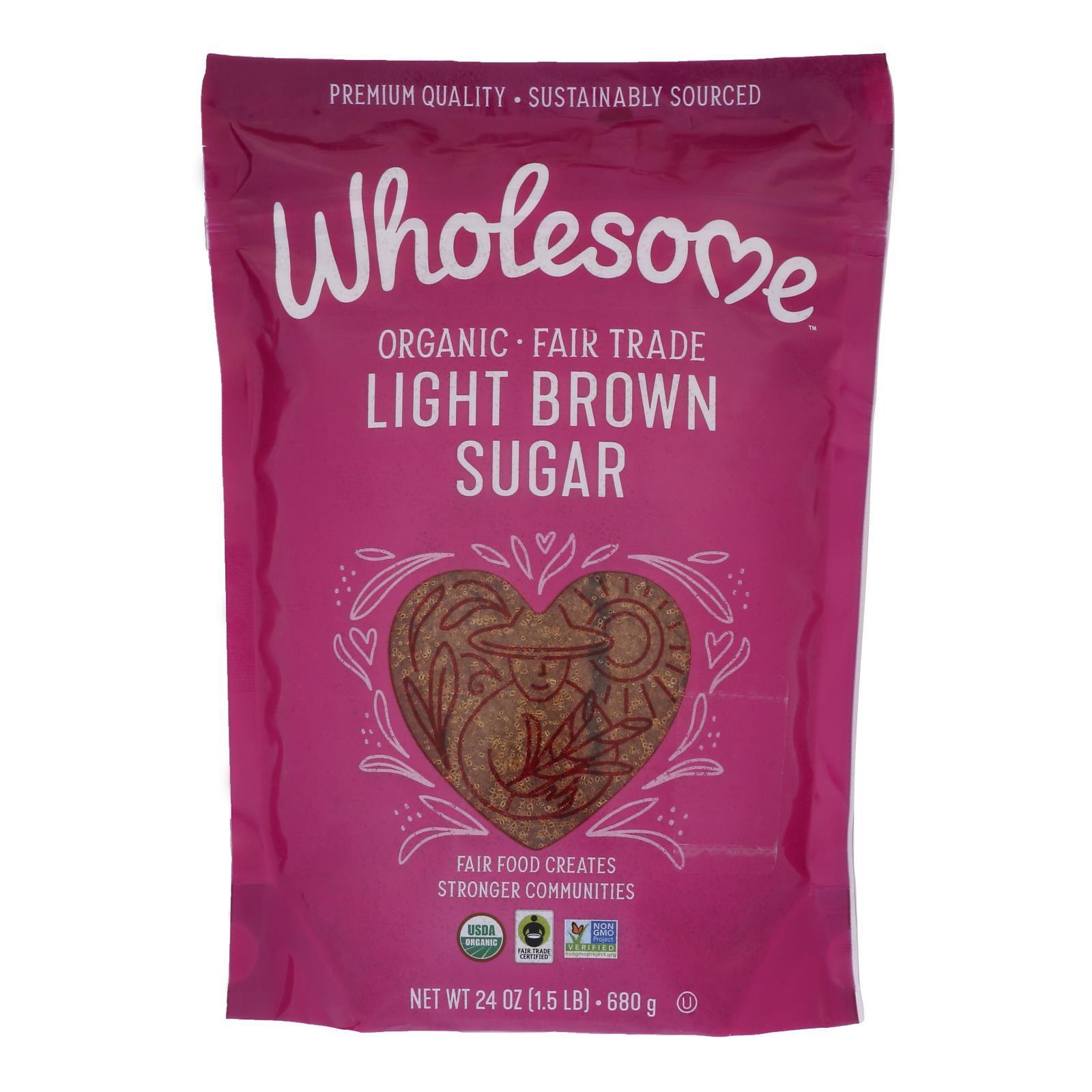 Wholesome Sweeteners Sugar - Organic - Light Brown - 24 oz - case of 6
