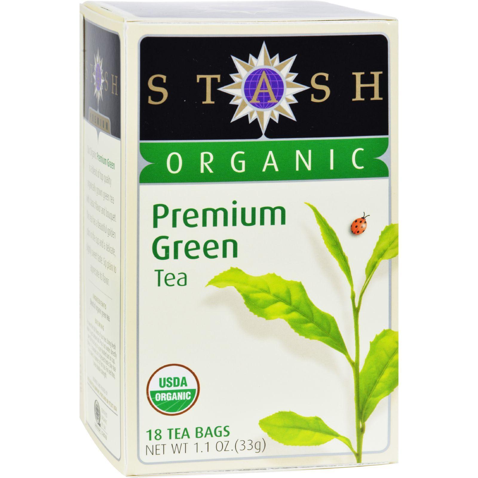 Stash Tea - Organic - Green - Premium - 18 Bags - Case of 6