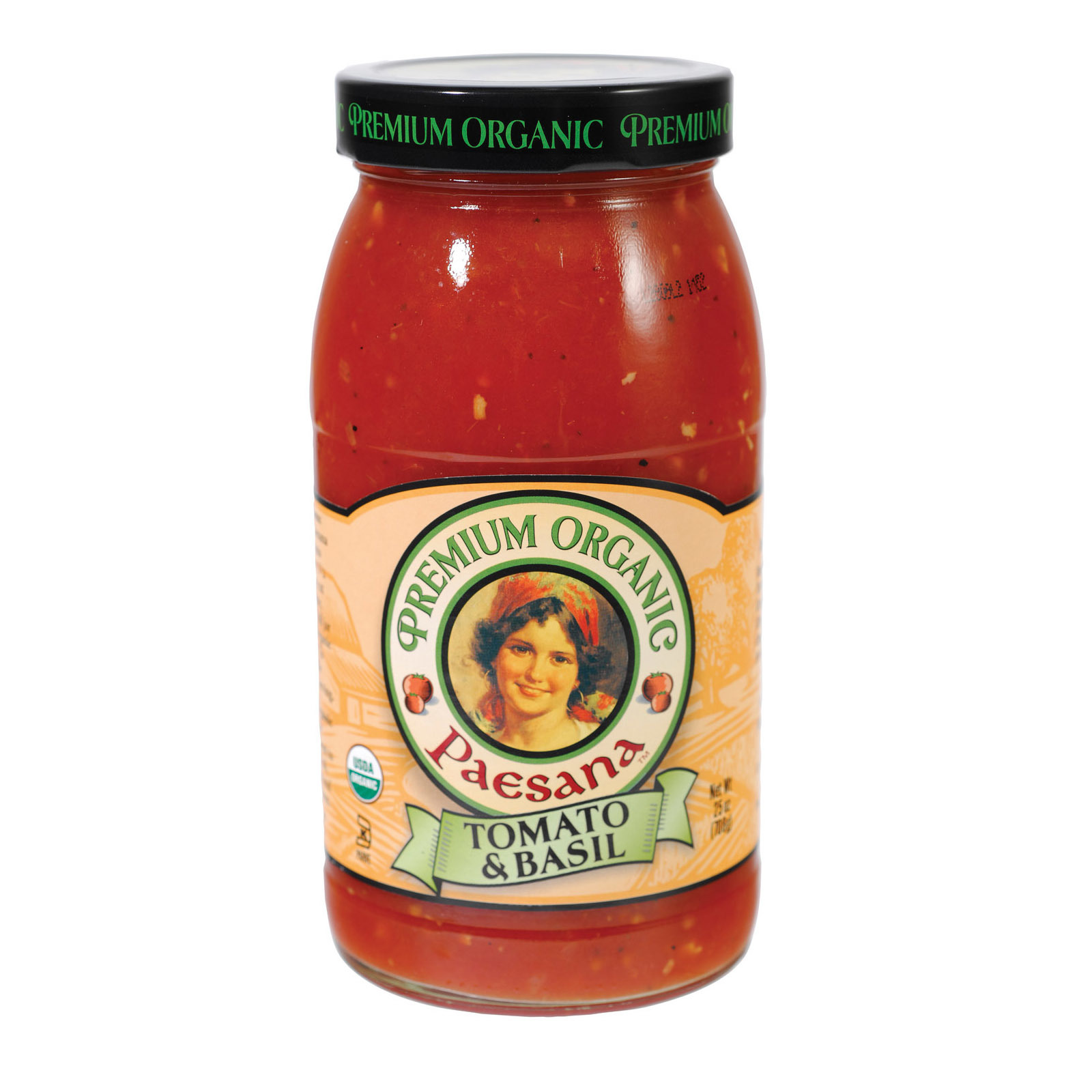 Paesana Organic Sauce - Tomato Basil - Case of 6 - 25 oz.