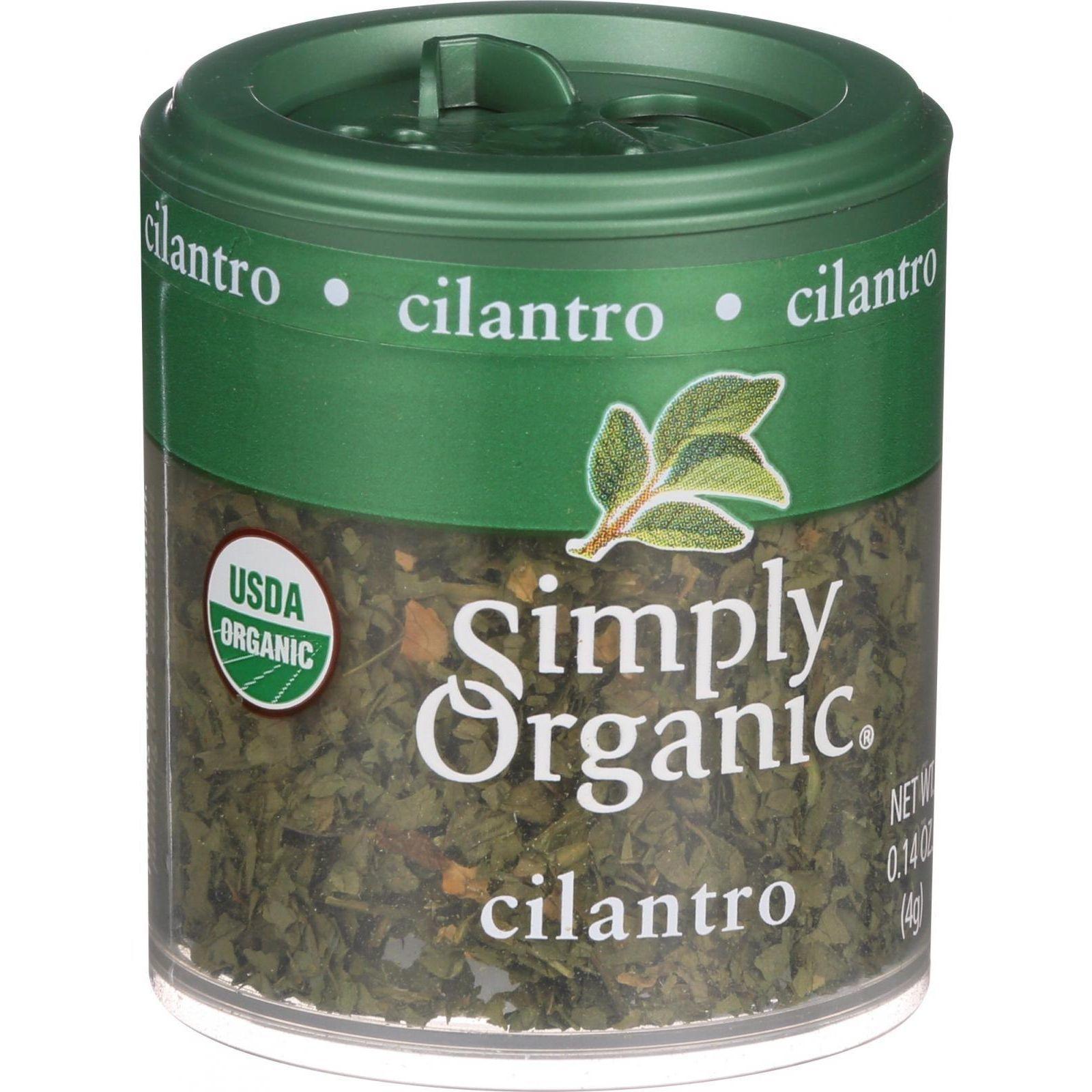 Simply Organic Cilantro Leaf - Organic - Cut and Sifted - .14 oz - Case of 6