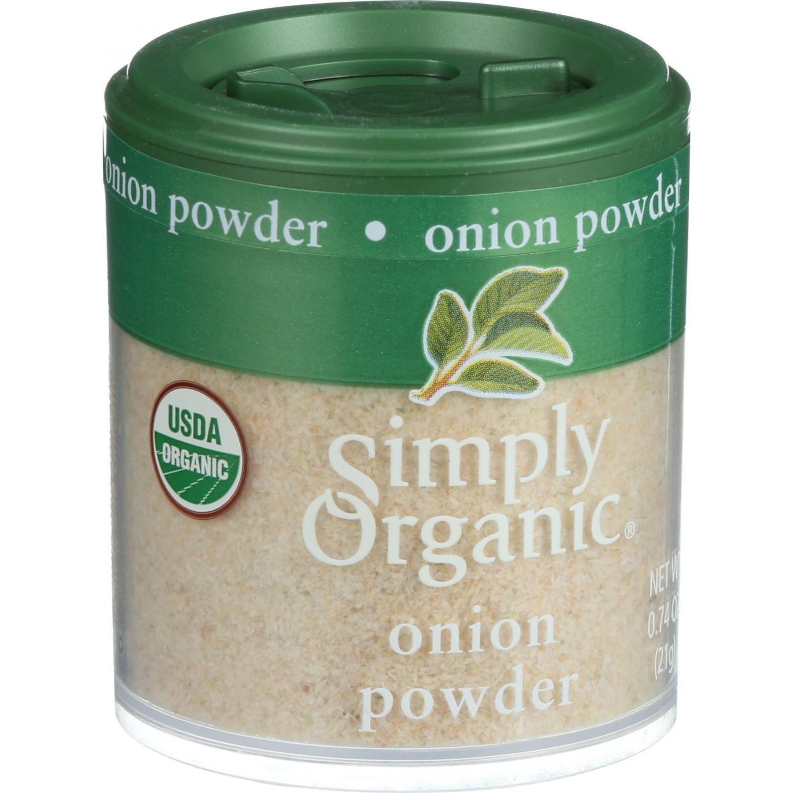 Simply Organic Onion - Organic - Powder - White - .74 oz - Case of 6