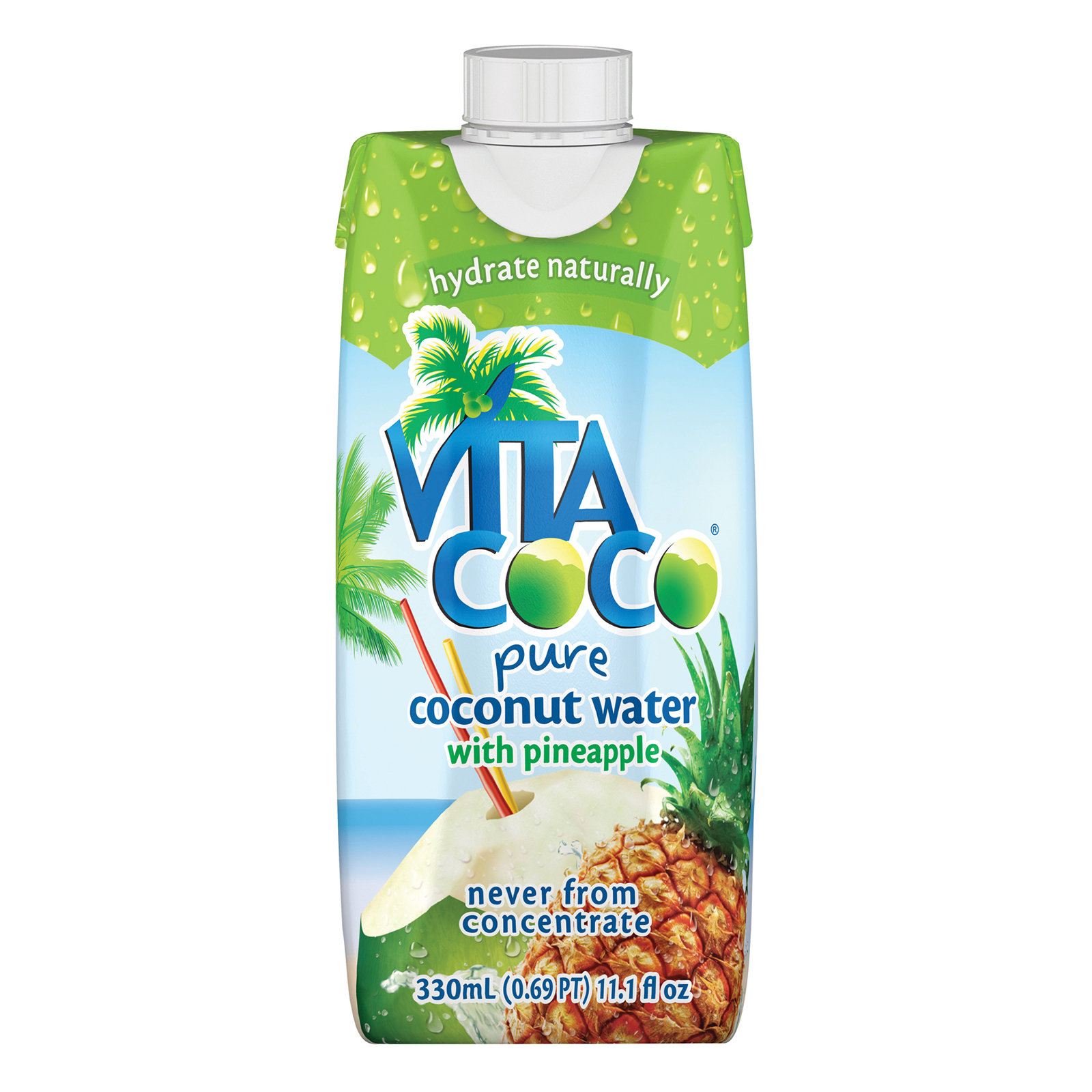 Vita Coco Coconut Water - Pineapple - Case of 12 - 11.2 oz.