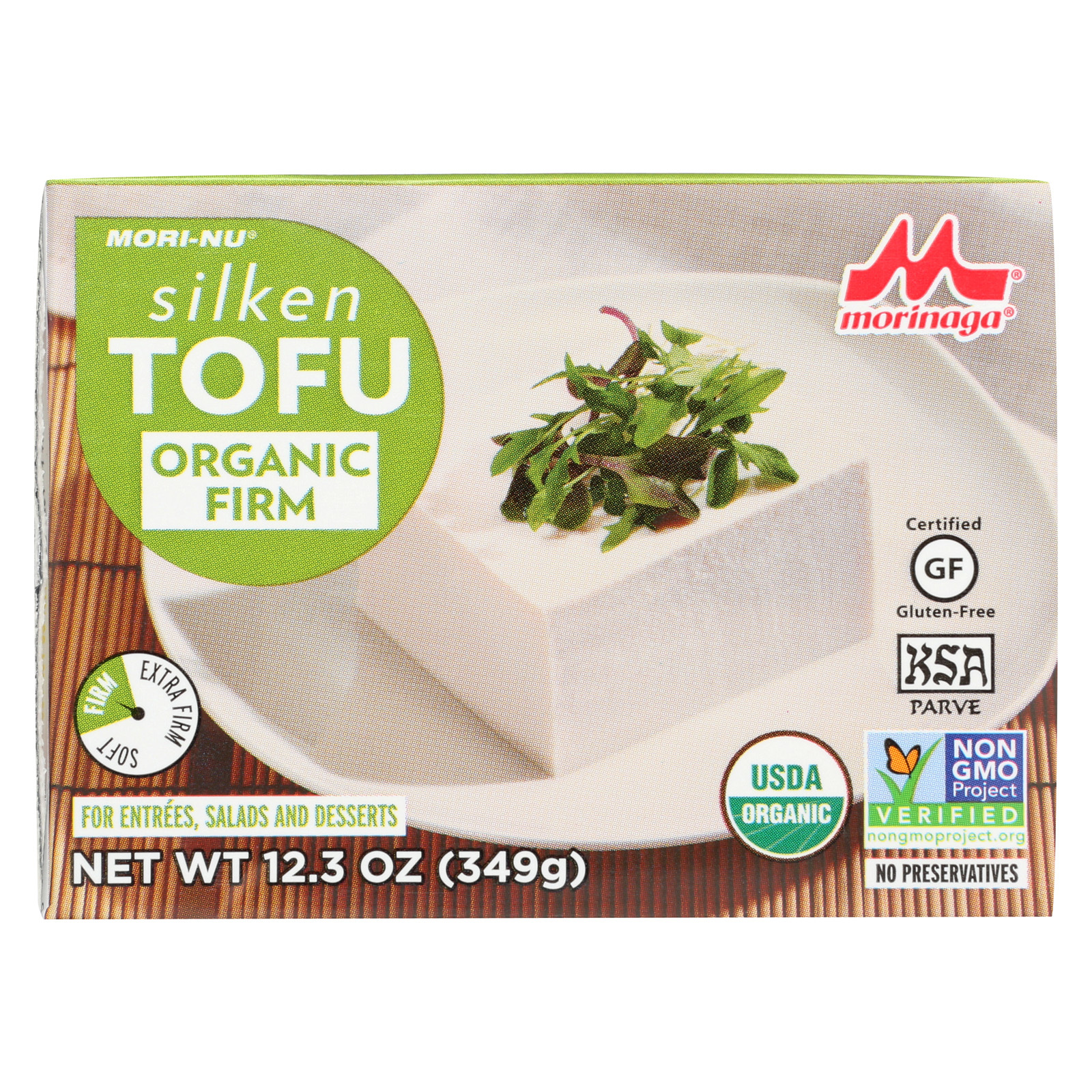 Mori-Nu Silken Tofu - Firm - Case of 12 - 12.3 oz.