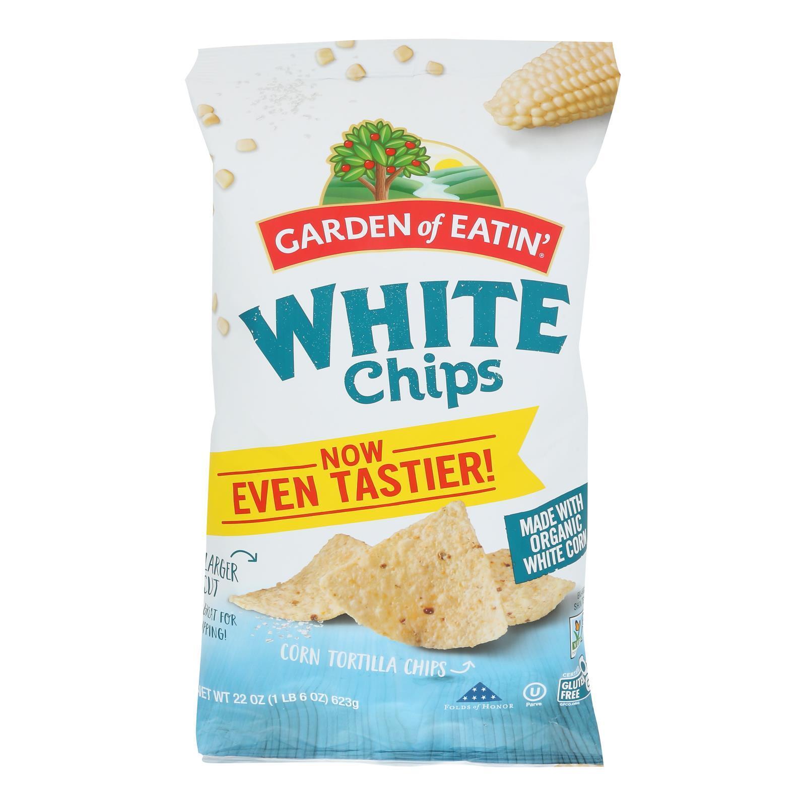 Garden of Eatin' Tortilla Chips - White Corn - Case of 10 - 22 oz.