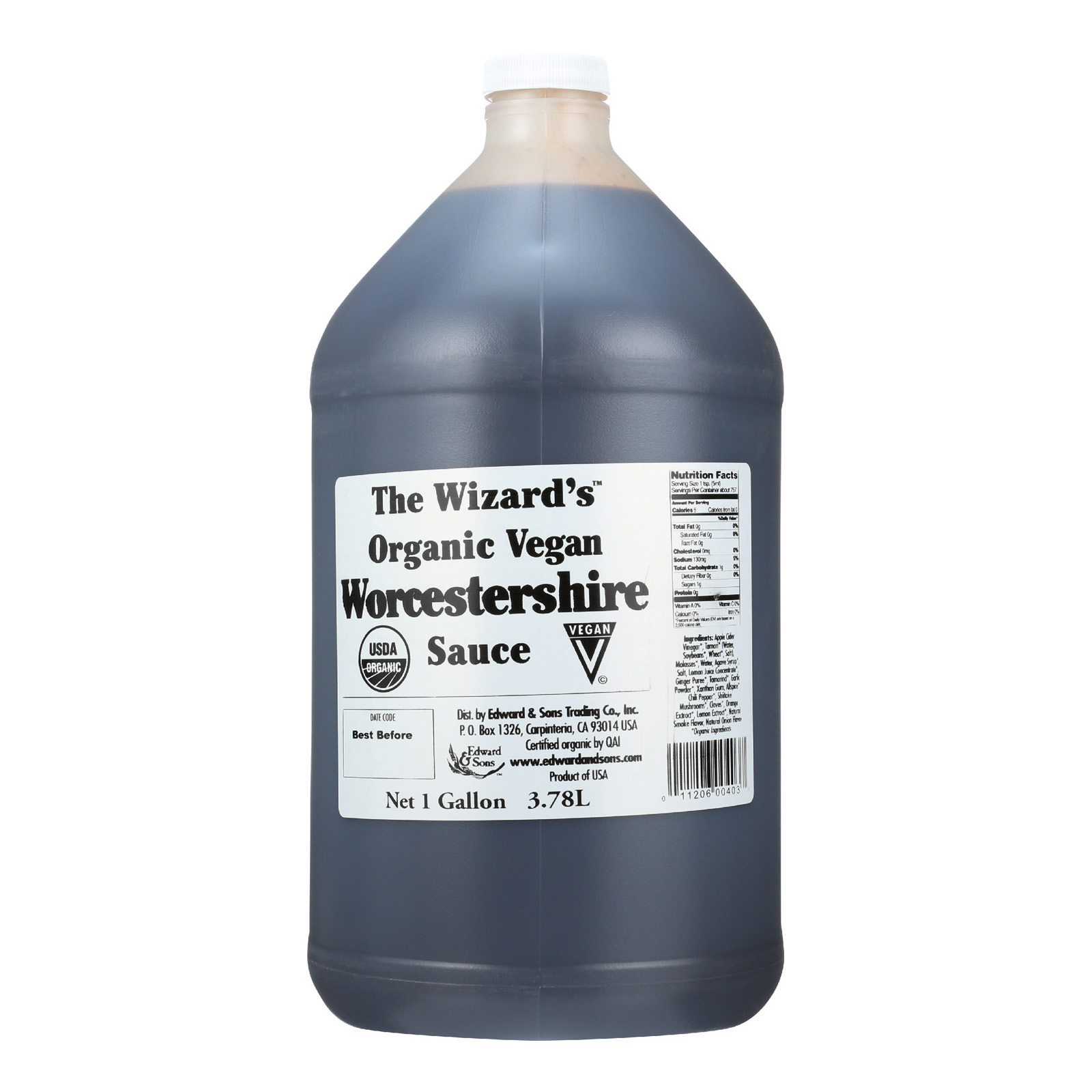 Wizard Organic Sauce - Worcestershire - 128 oz
